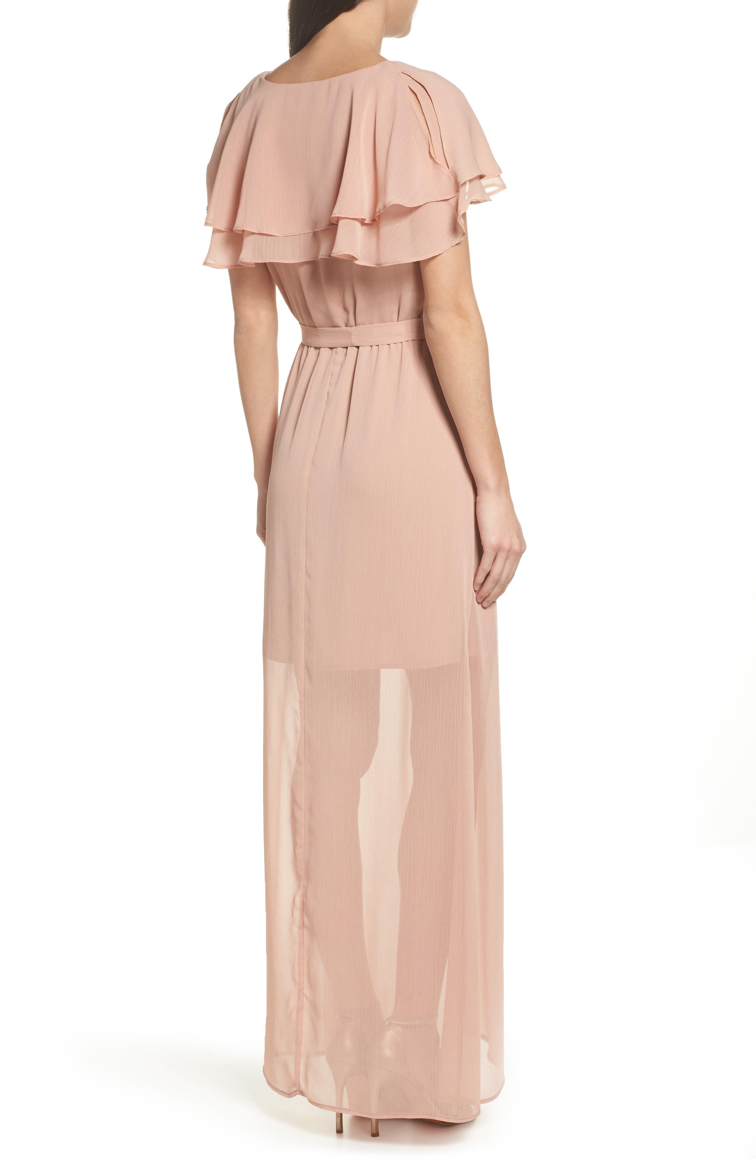 Split Sleeve Ruffle Maxi Dress,                             Alternate thumbnail 2, color,                             682
