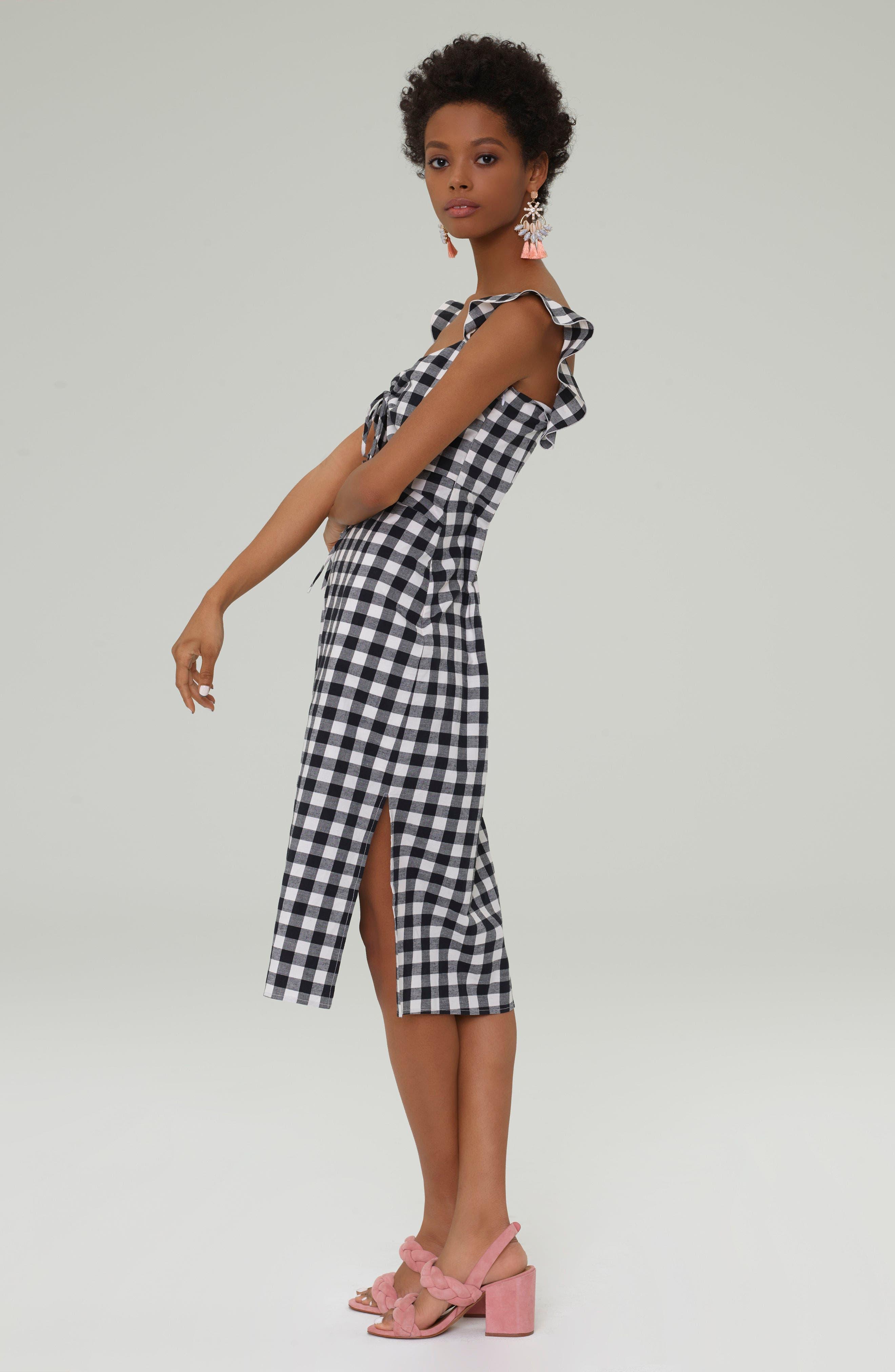 Verona Cutout Midi Dress,                             Alternate thumbnail 9, color,                             001