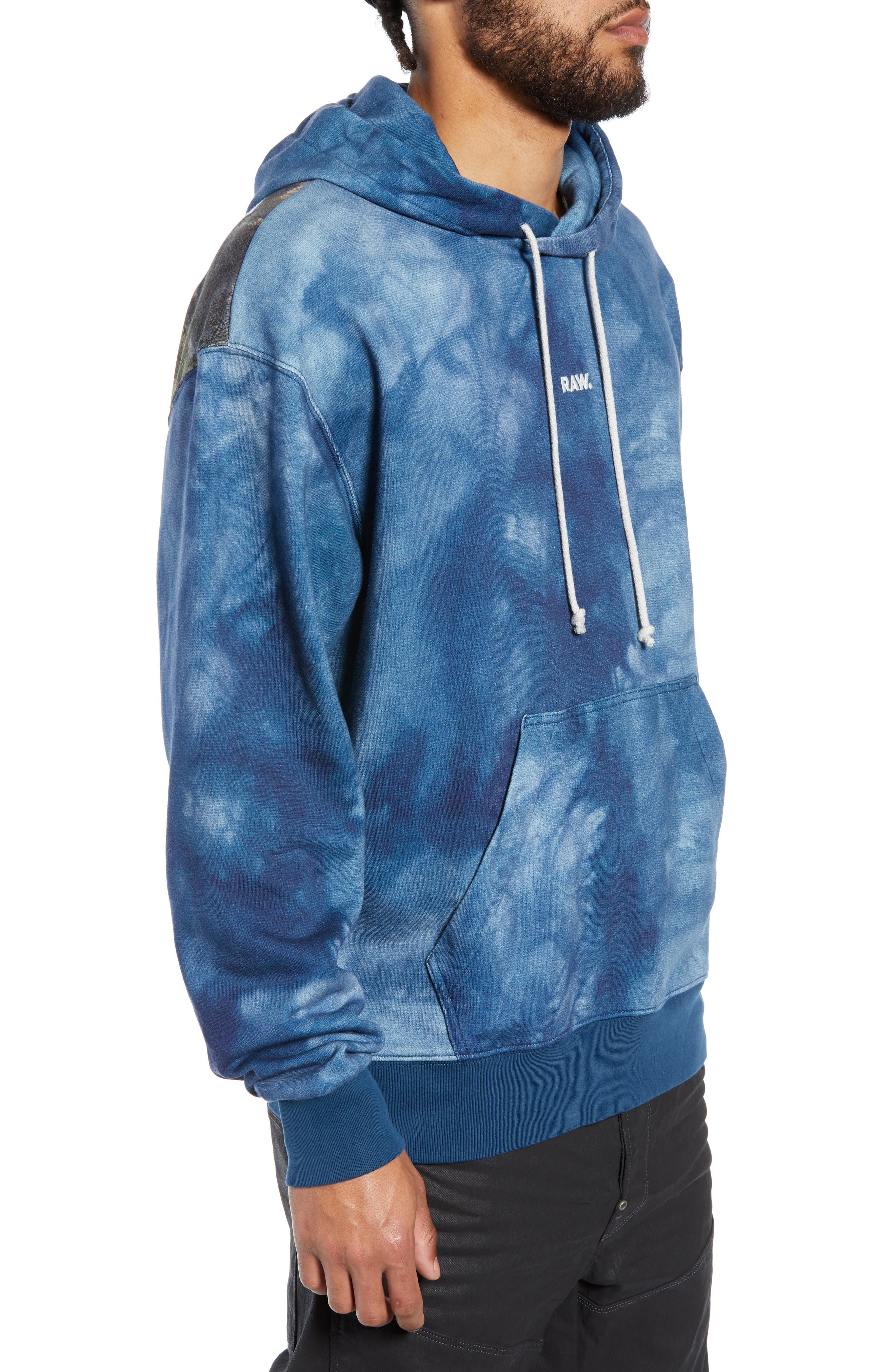 Cryrer Waterfall Hooded Sweatshirt,                             Alternate thumbnail 3, color,                             TEAL BLUE