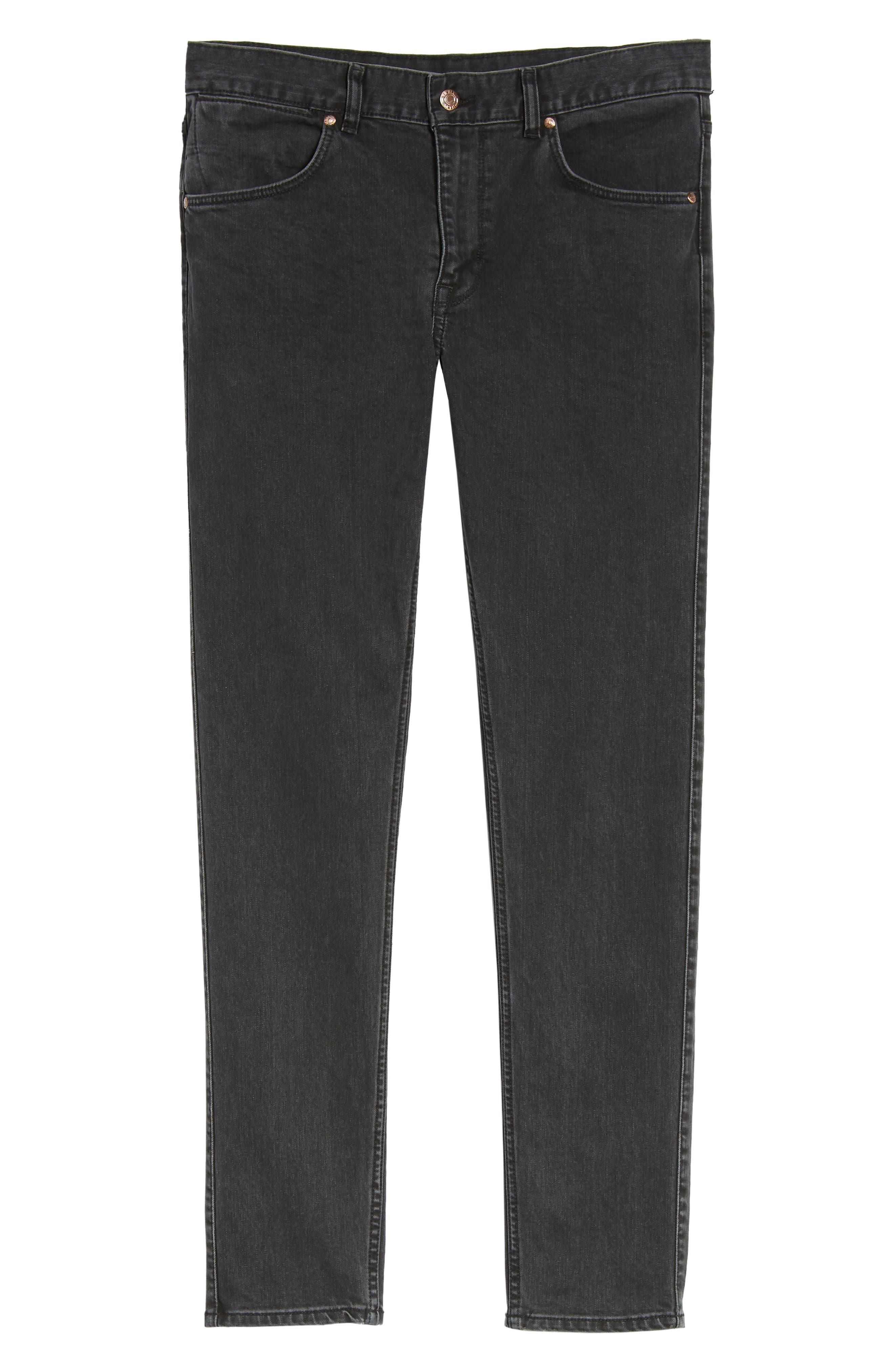 Clark Slim Straight Leg Jeans,                             Alternate thumbnail 6, color,                             001