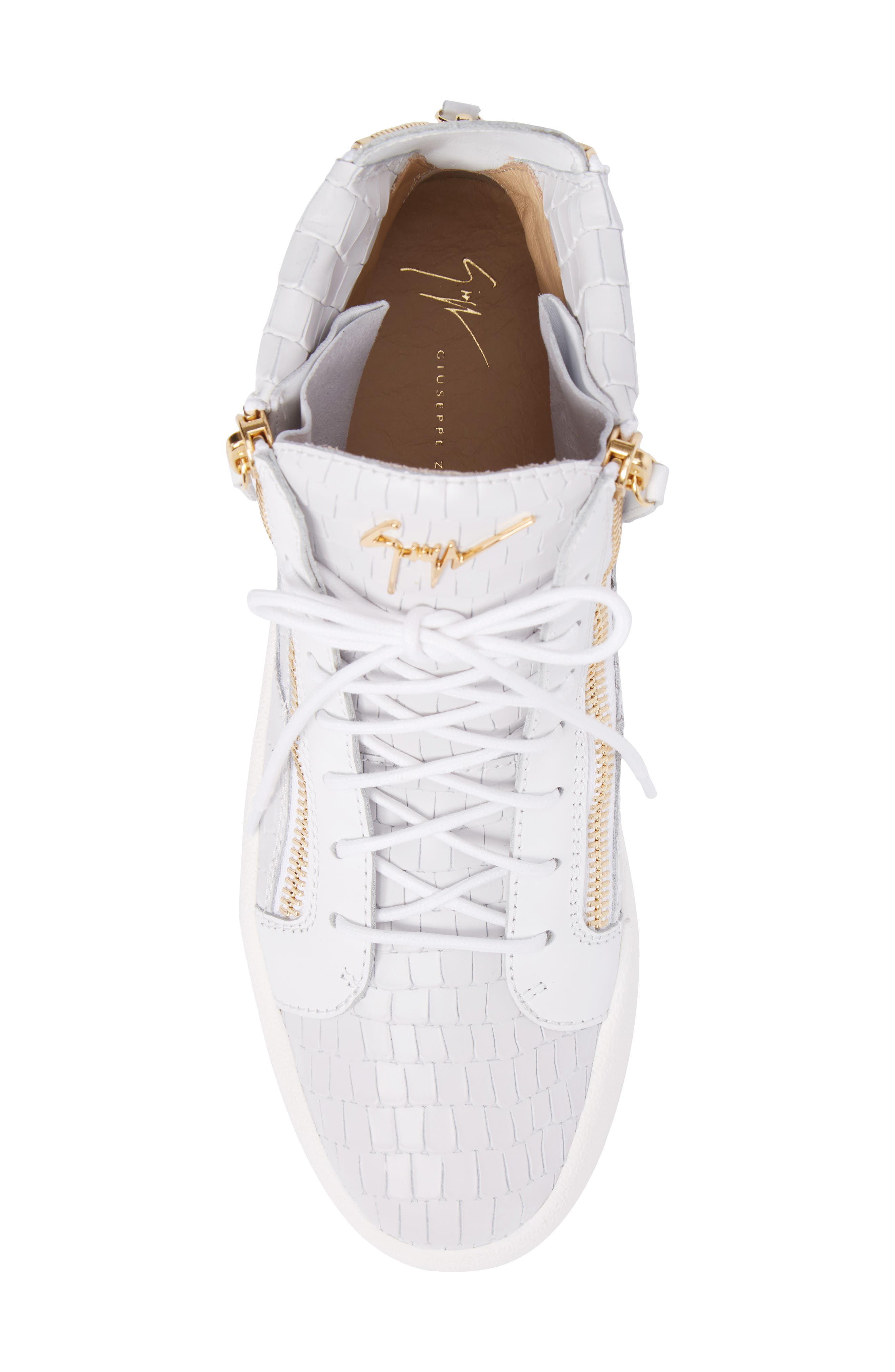 High-Top Sneaker,                             Alternate thumbnail 5, color,                             WHITE
