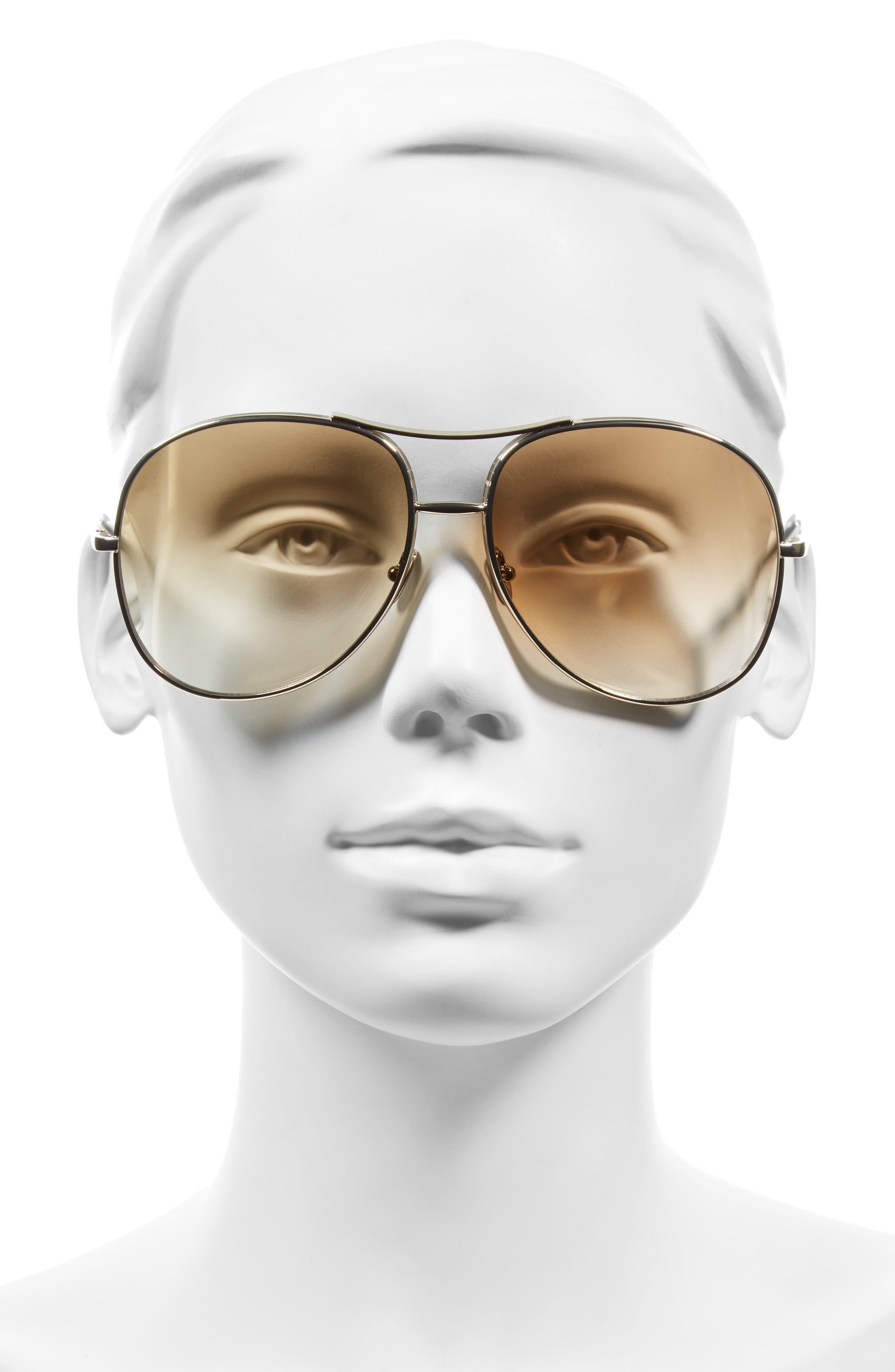 61mm Oversize Sunglasses,                             Alternate thumbnail 5, color,