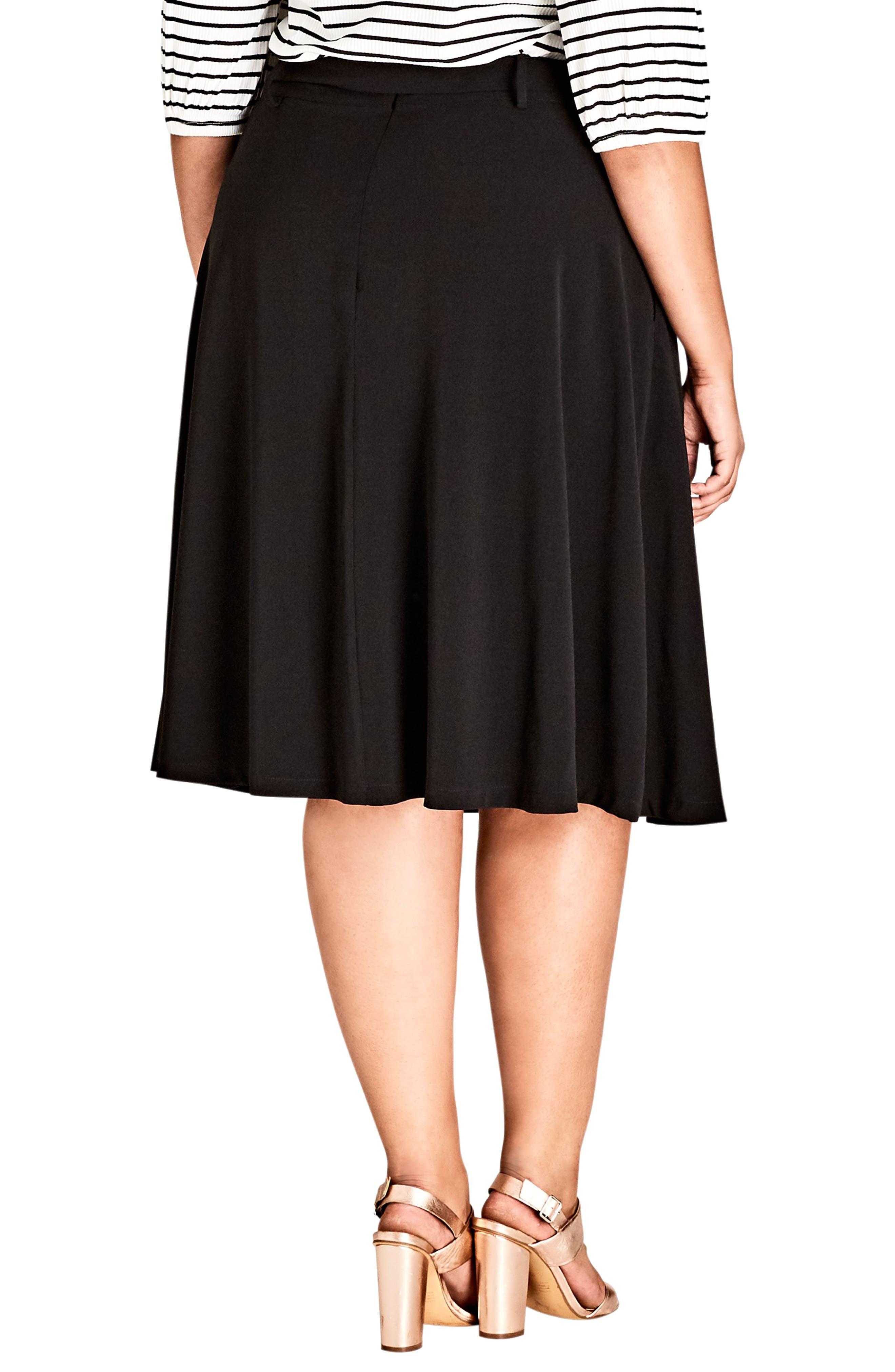 Joyful A-Line Skirt,                             Alternate thumbnail 2, color,                             BLACK