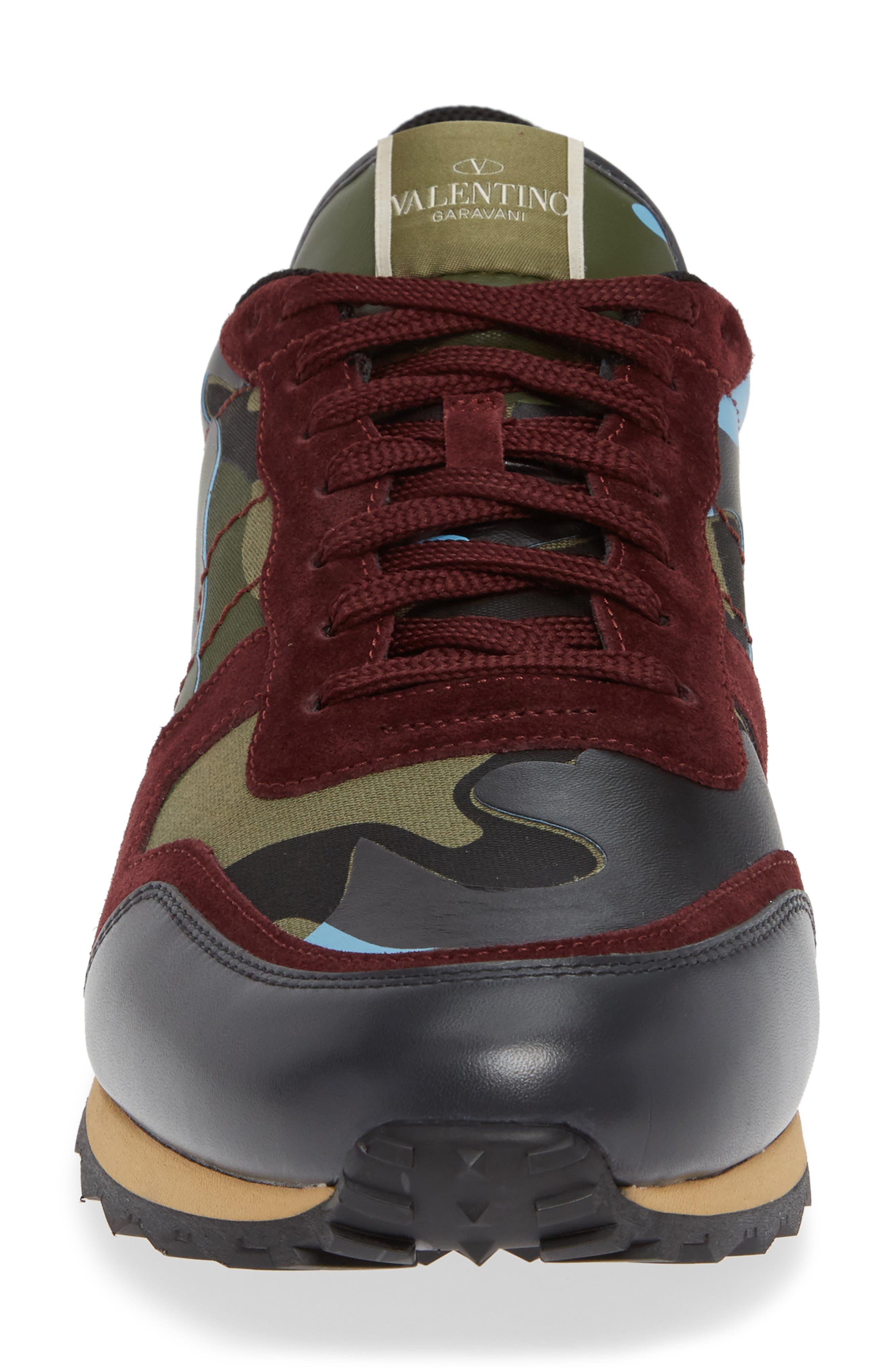 Camo Rockrunner Sneaker,                             Alternate thumbnail 4, color,                             LIGHT BLUE/ BORDEAUX