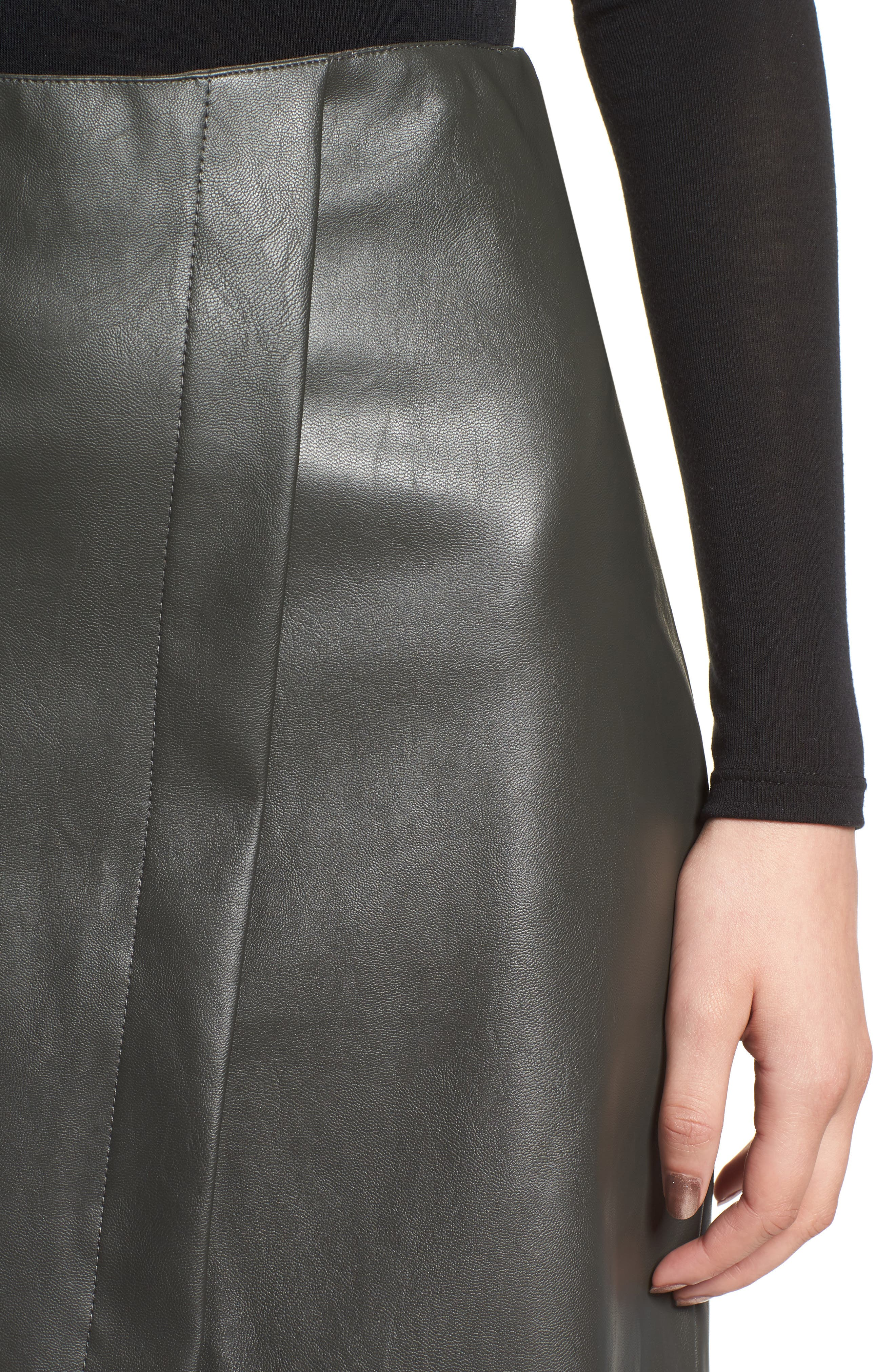 Bishop + Young A-Line Faux Leather Miniskirt,                             Alternate thumbnail 4, color,                             333