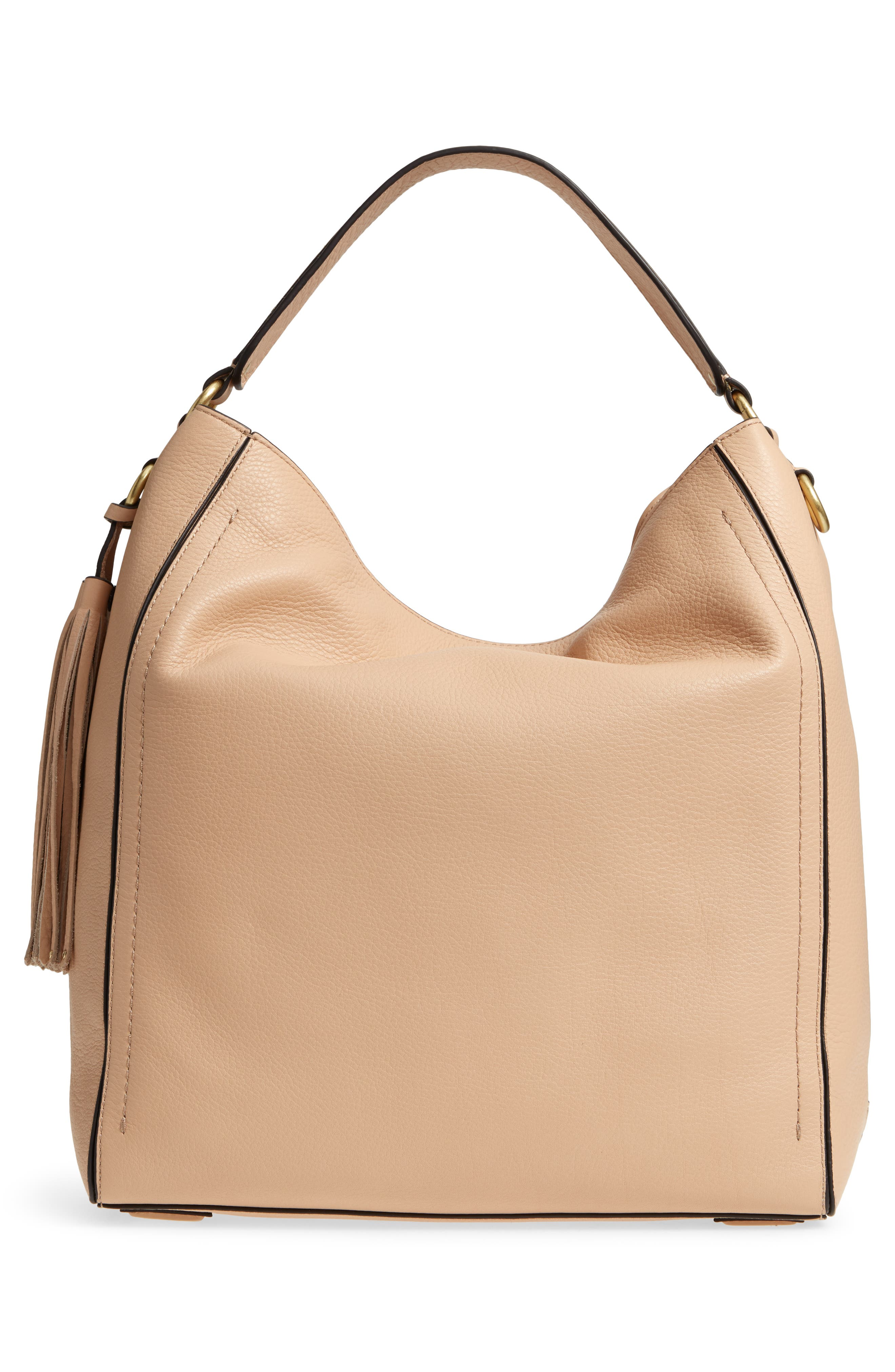 Cassidy RFID Pebbled Leather Bucket Bag,                             Alternate thumbnail 11, color,
