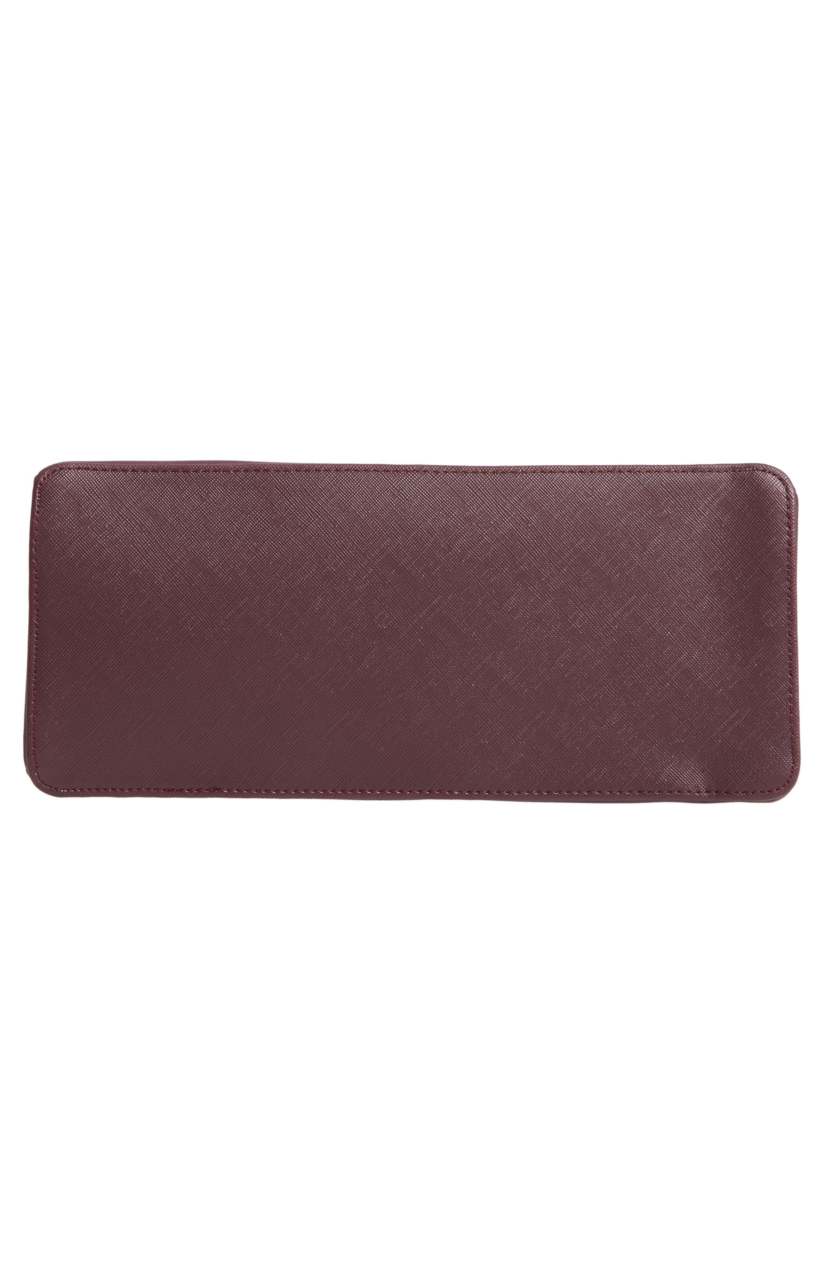 Keiira Lady Bag Faux Leather Top Handle Satchel,                             Alternate thumbnail 6, color,                             DEEP PURPLE