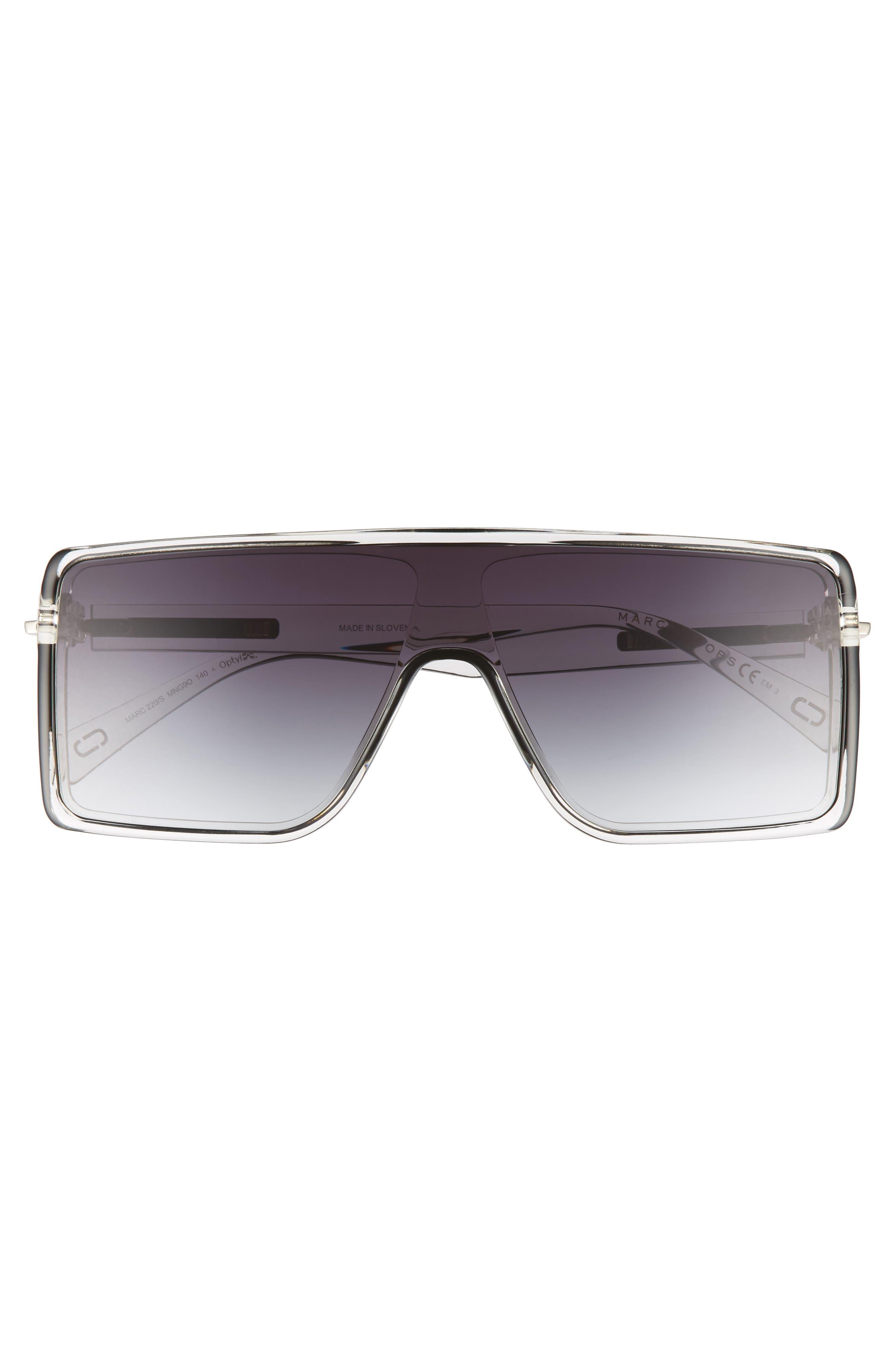 54mm Shield Sunglasses,                             Alternate thumbnail 3, color,                             001