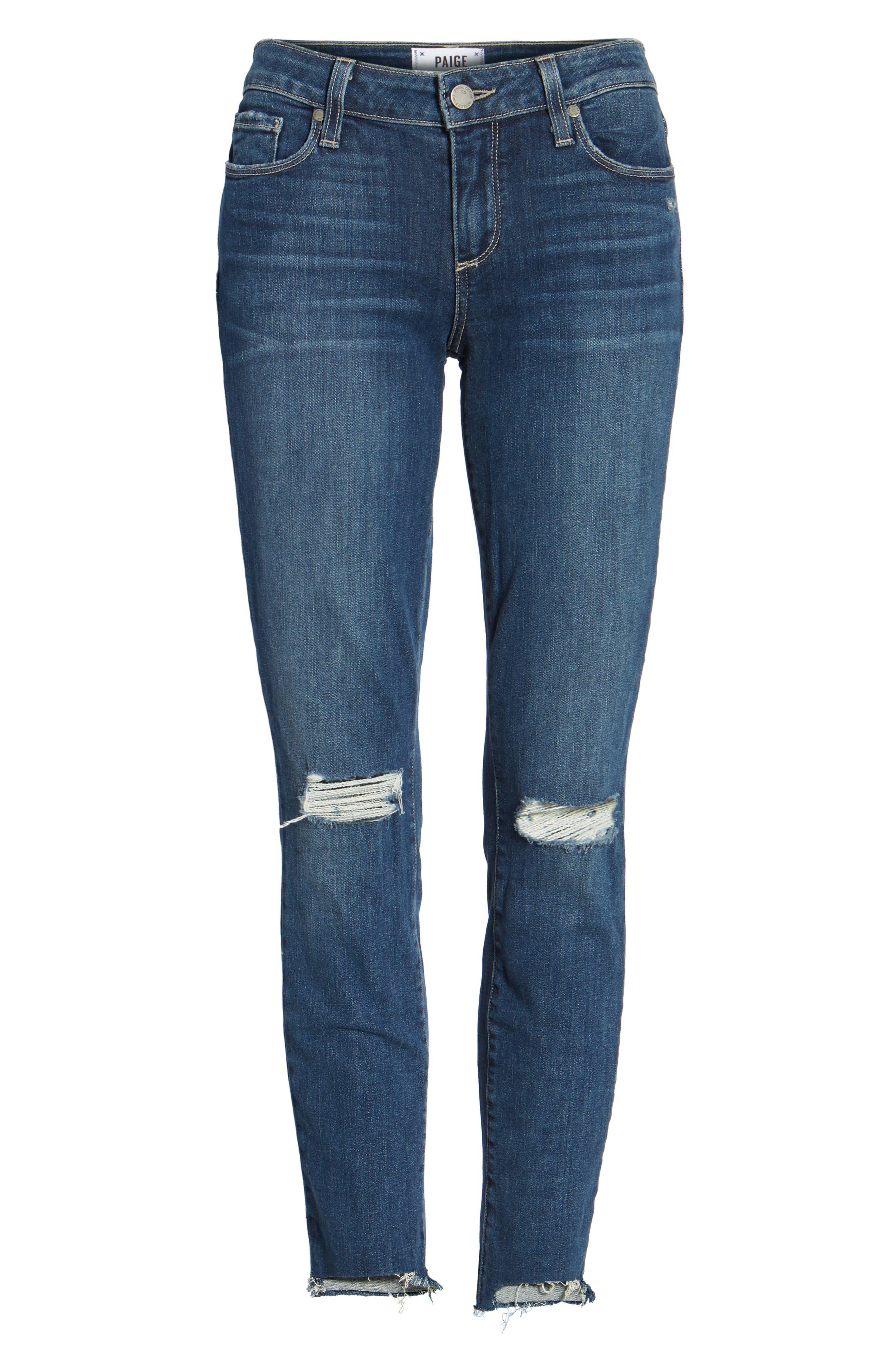 Verdugo Step Hem Ankle Skinny Jeans (Dede Destructed),                             Alternate thumbnail 6, color,                             400
