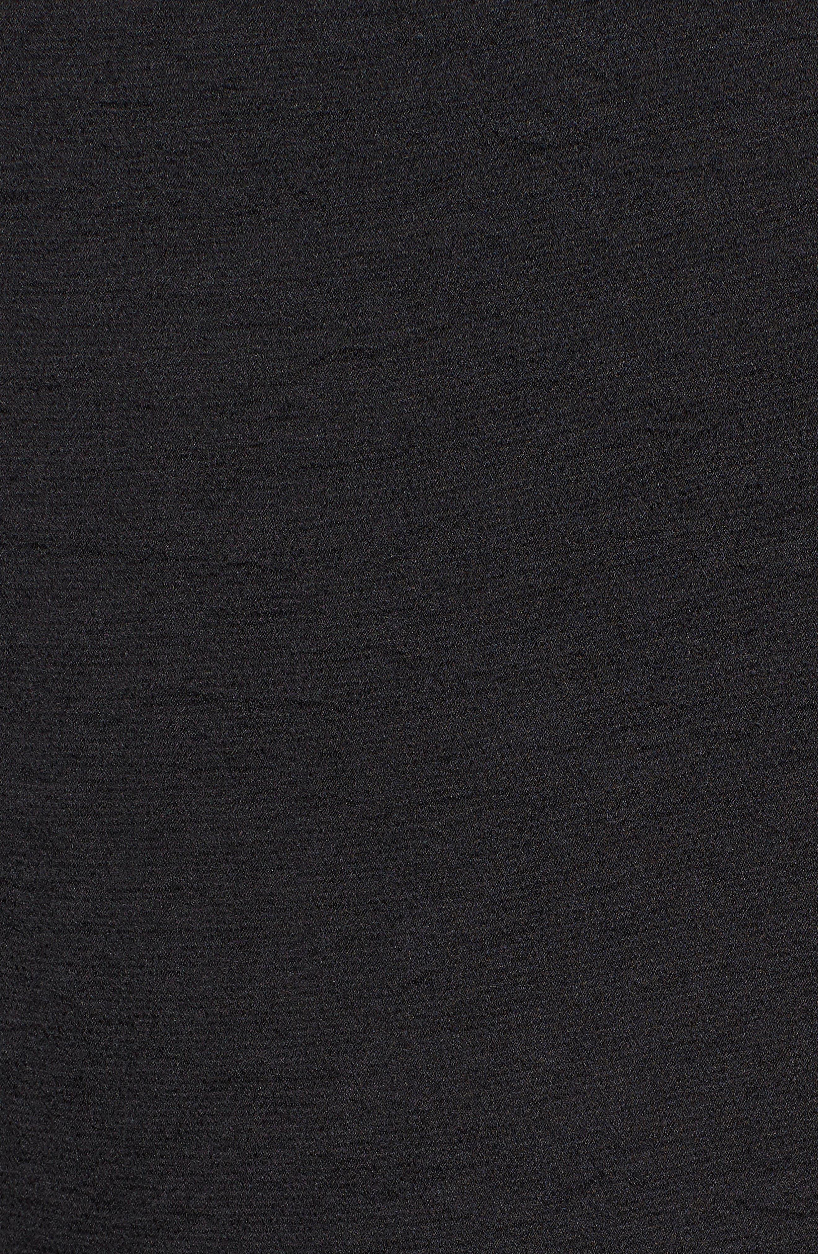 Ruffle Back Tie Top,                             Alternate thumbnail 5, color,                             BLACK