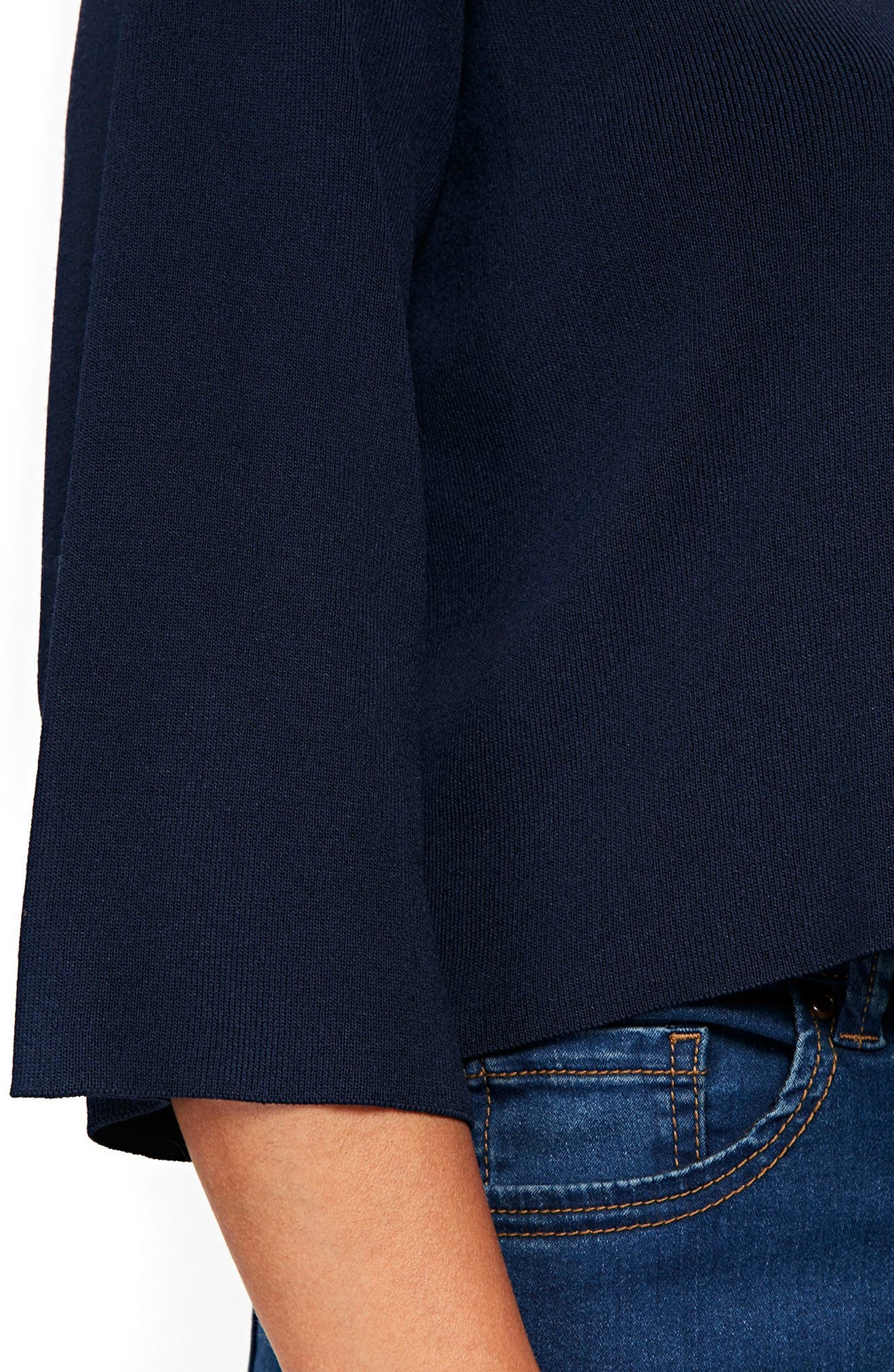 Wide Sleeve Shrug Sweater,                             Alternate thumbnail 2, color,                             NAVY