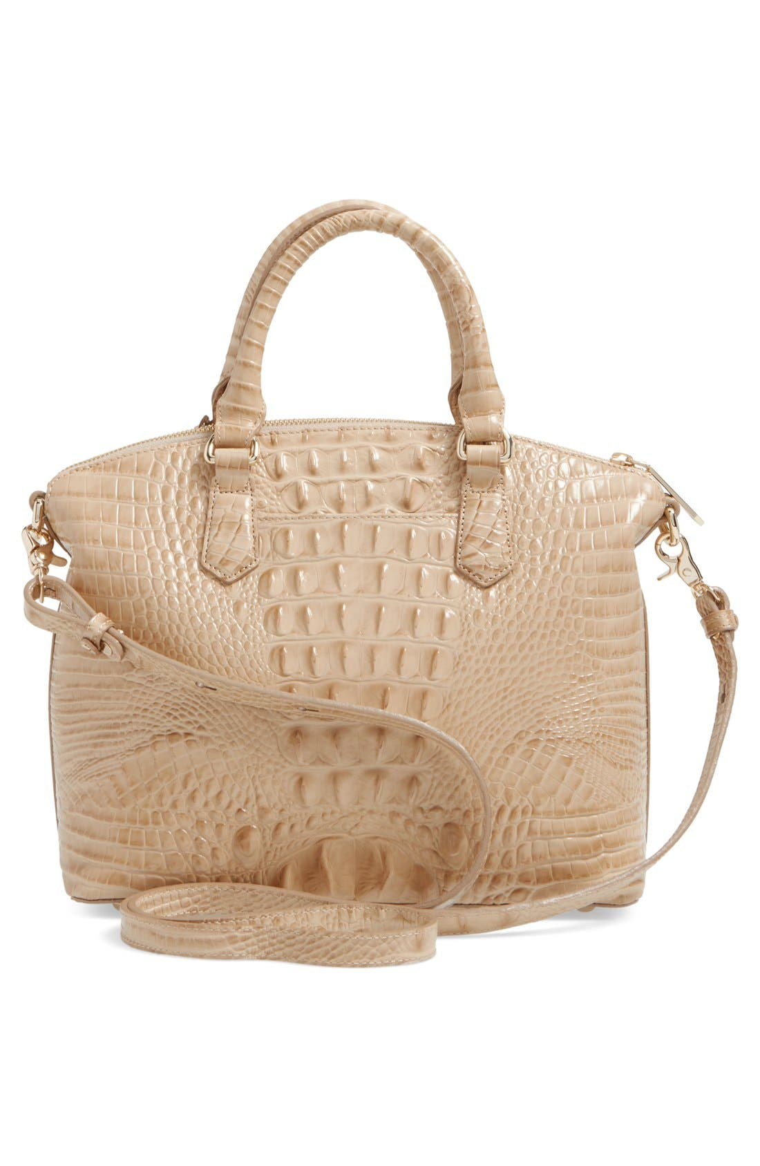 'Medium Duxbury' Croc Embossed Leather Satchel,                             Alternate thumbnail 99, color,
