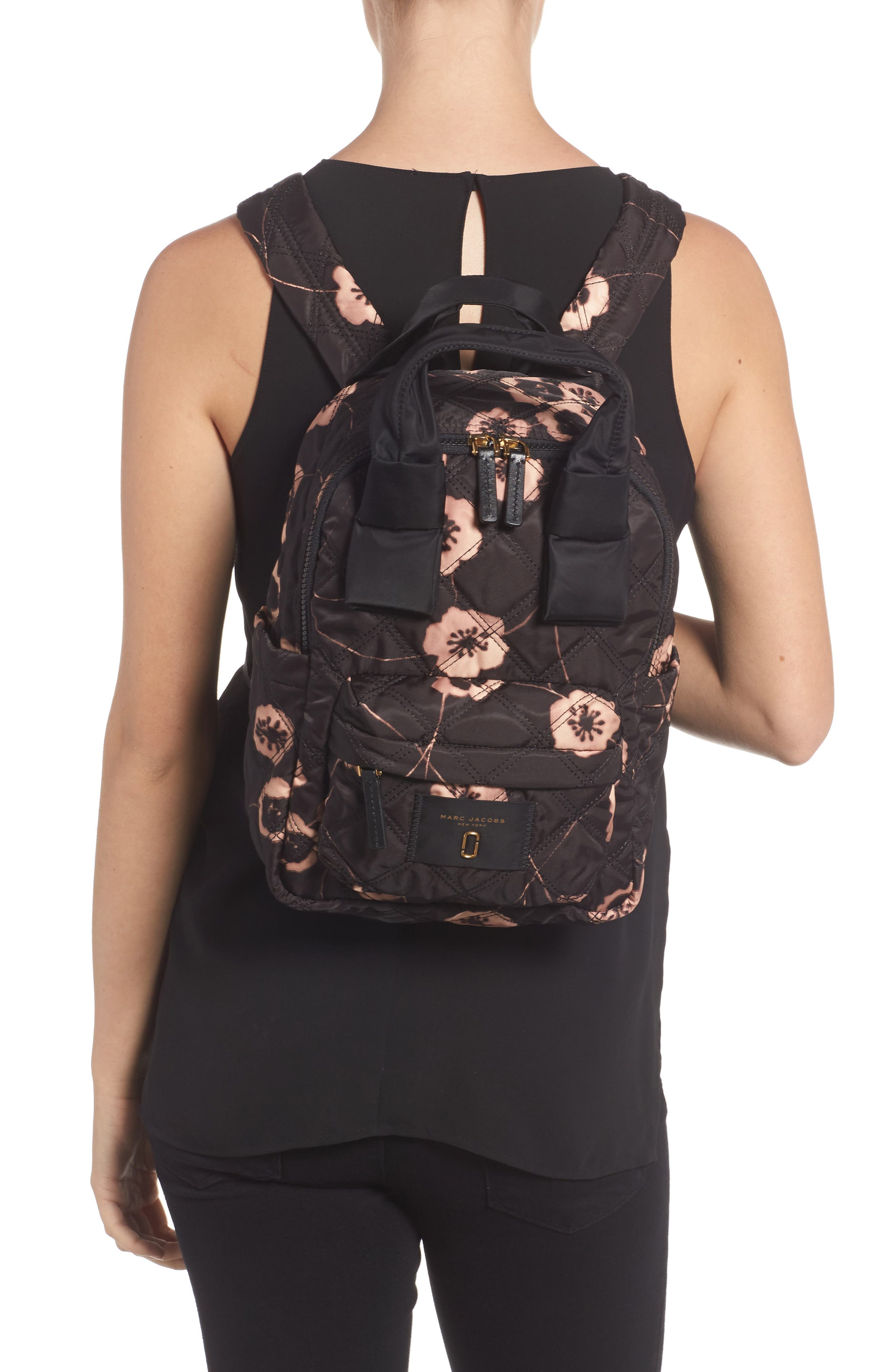Small Violet Vines Knot Backpack,                             Alternate thumbnail 2, color,                             002