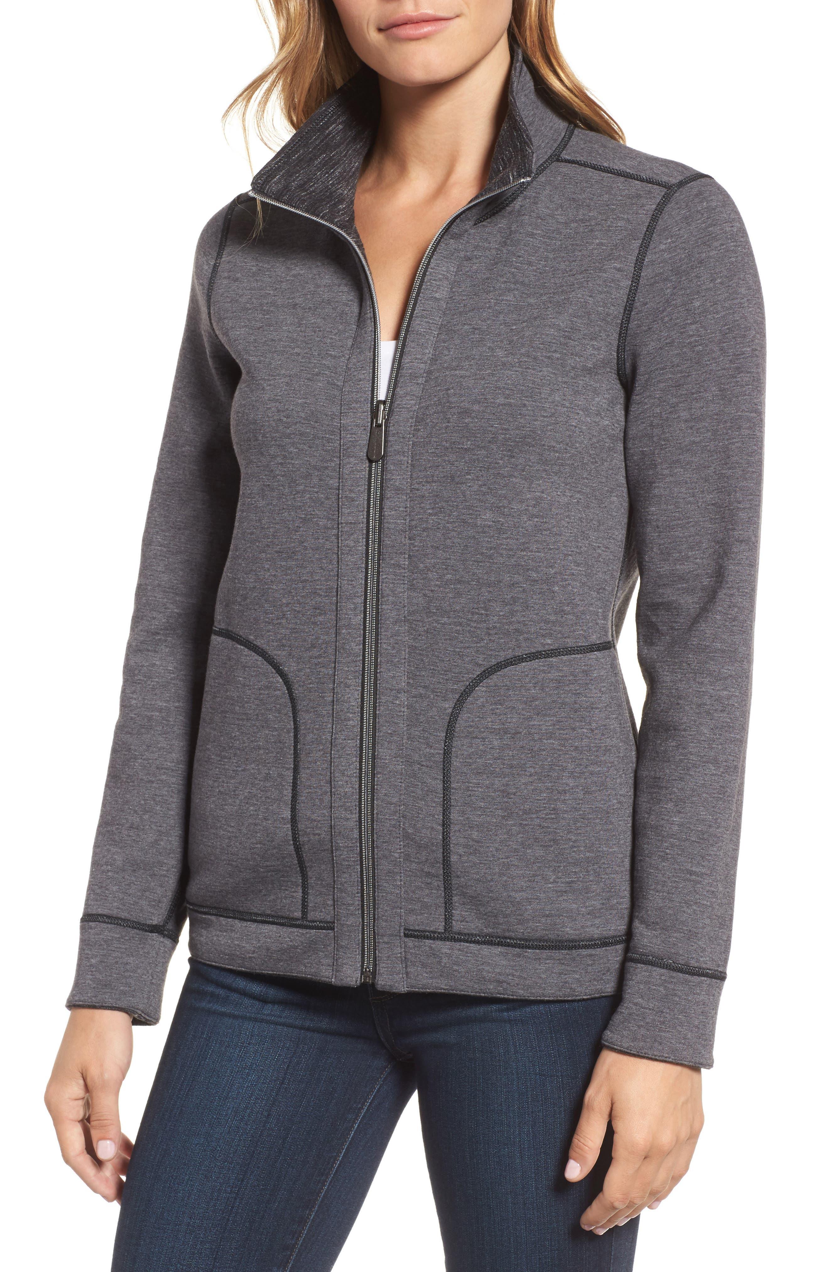 Reversible Marled Knit Jacket,                             Alternate thumbnail 4, color,                             021