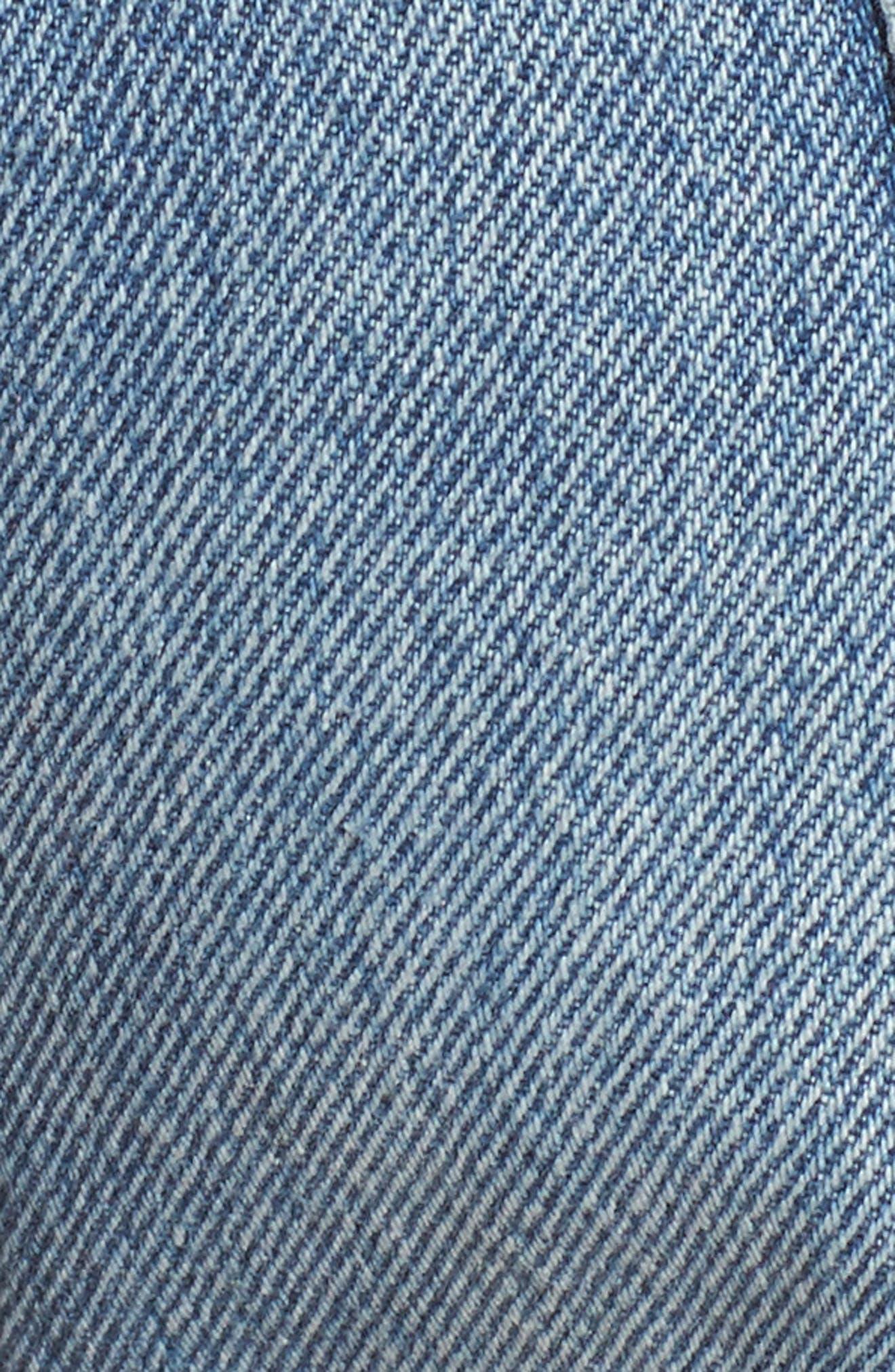 Cutoff Denim Shorts,                             Alternate thumbnail 5, color,                             400
