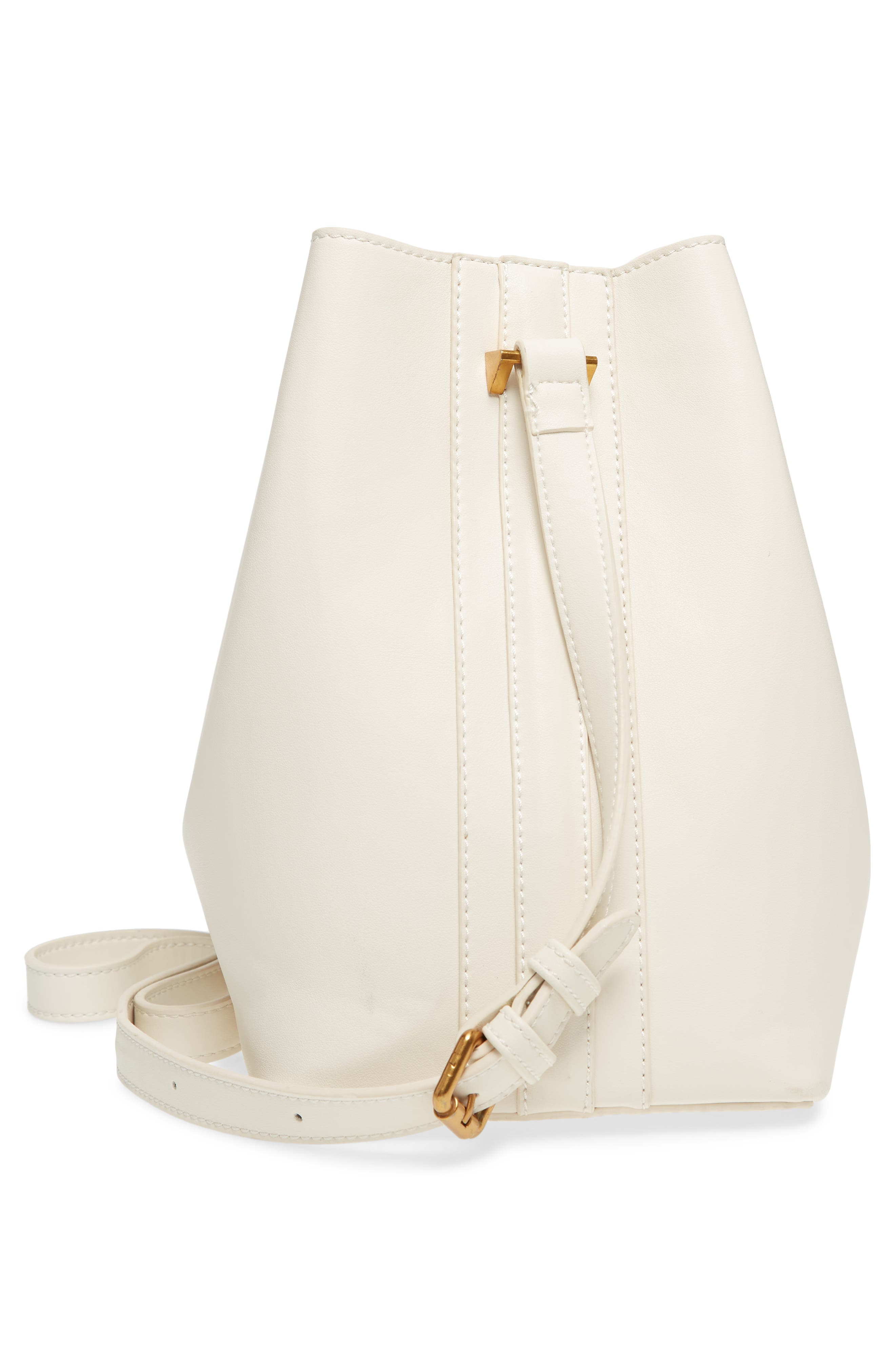 STREET LEVEL,                             Faux Leather Bucket Tote,                             Alternate thumbnail 5, color,                             100