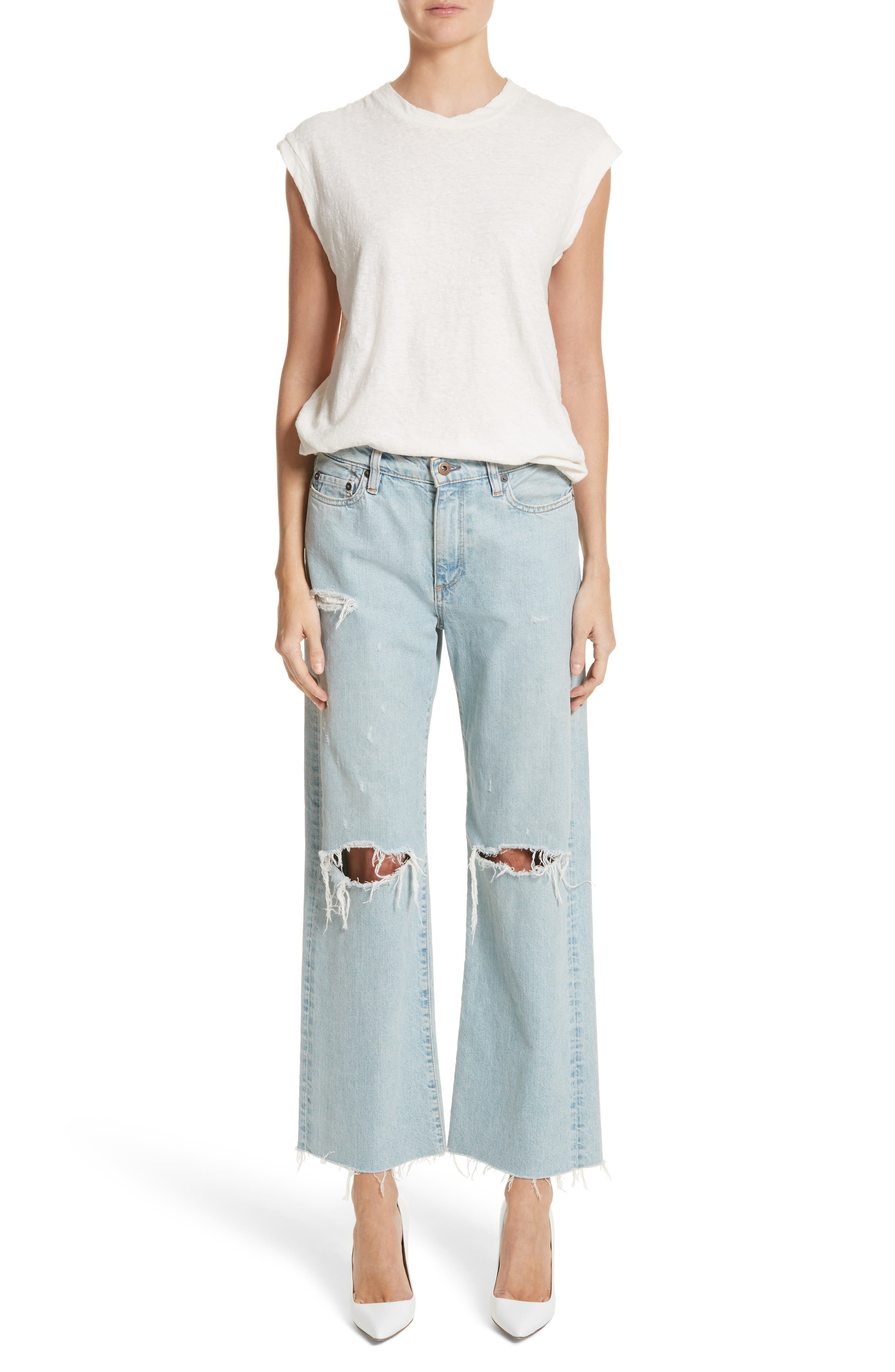 Tibbee Ripped Jeans,                             Alternate thumbnail 7, color,                             400