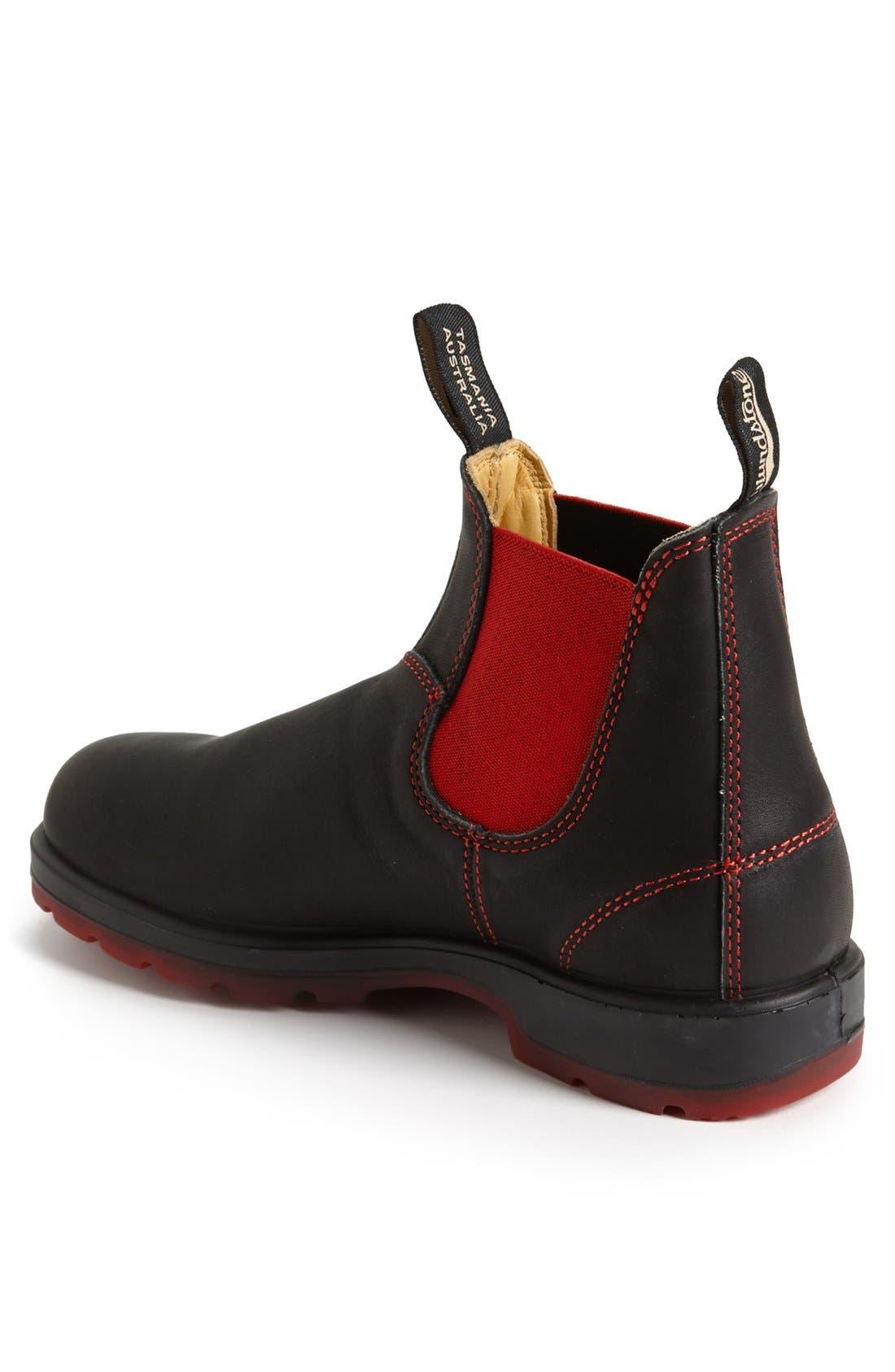 Chelsea Boot,                             Alternate thumbnail 2, color,                             BLACK/ RED GORE