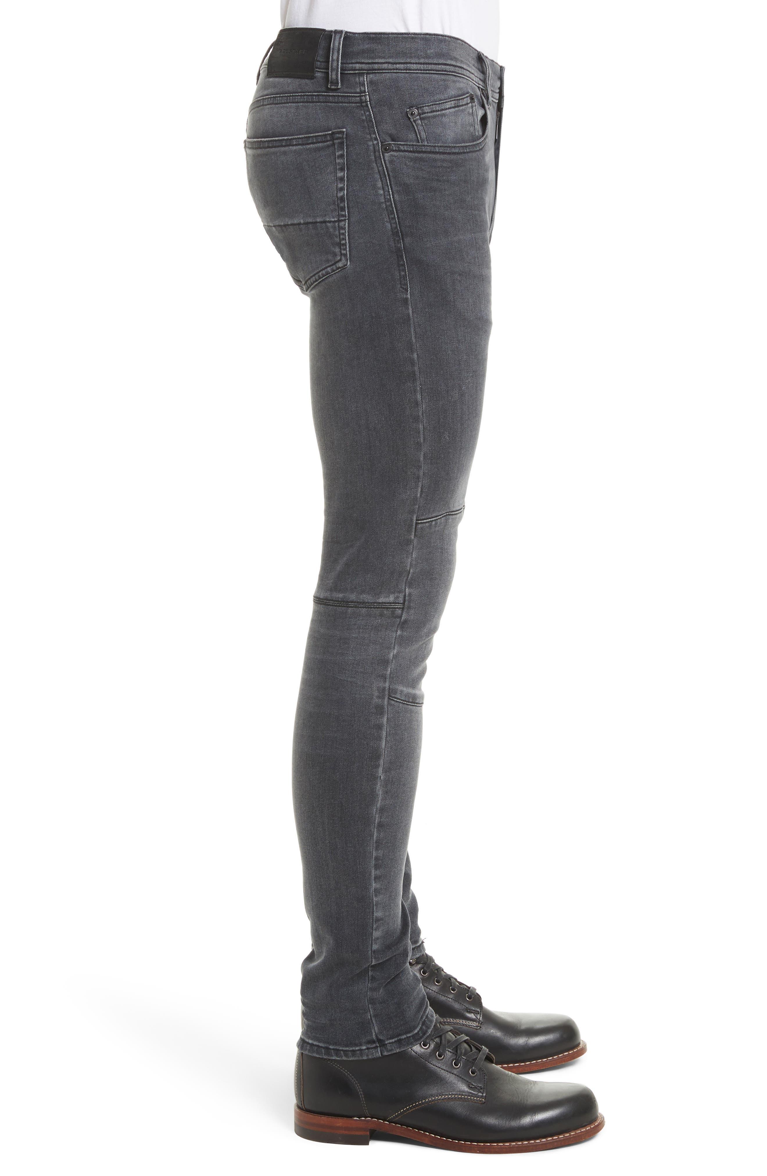 Tattenhall Washed Denim Skinny Jeans,                             Alternate thumbnail 3, color,                             022