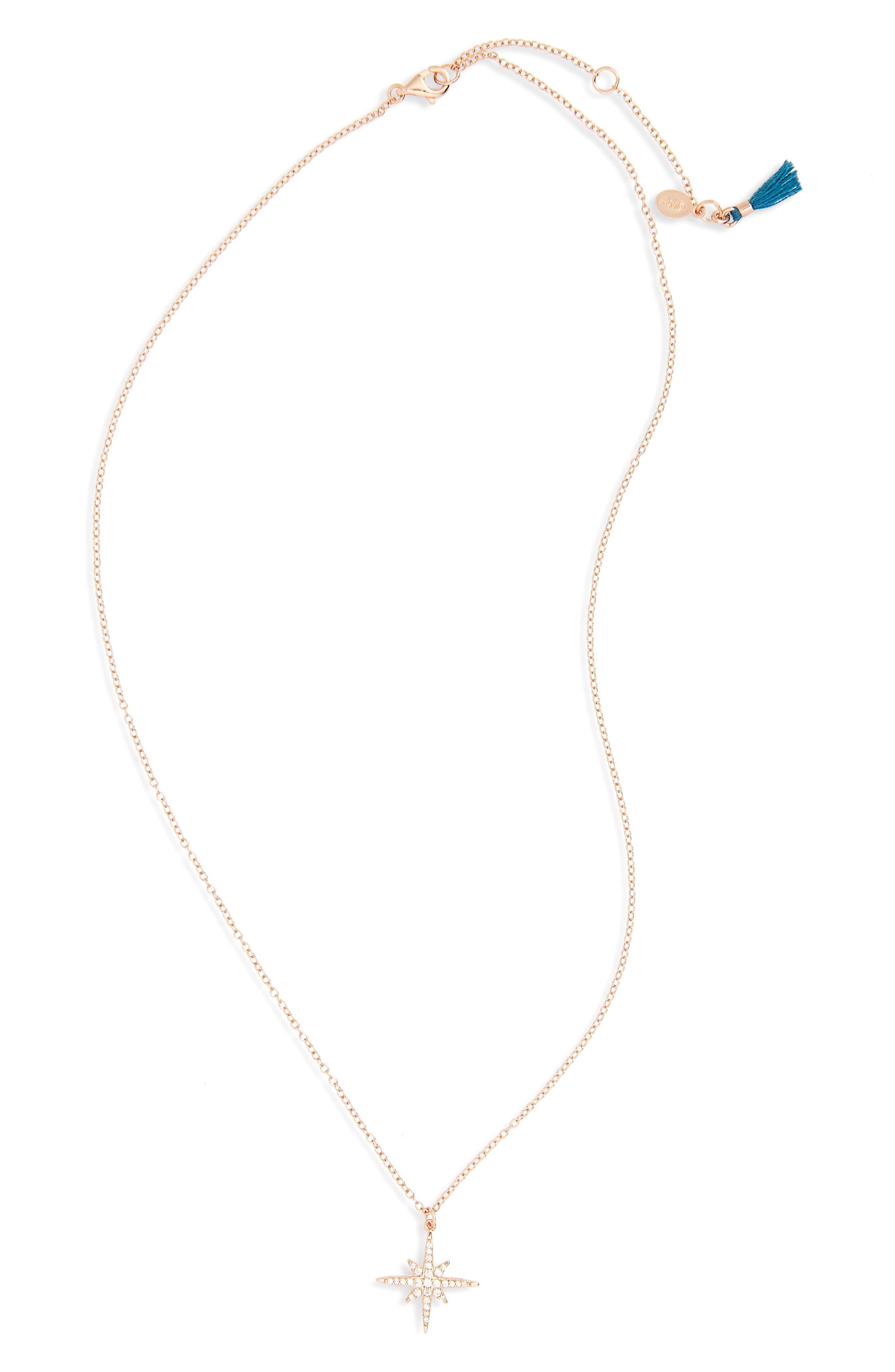 Lacey Pavé Necklace,                         Main,                         color, 710