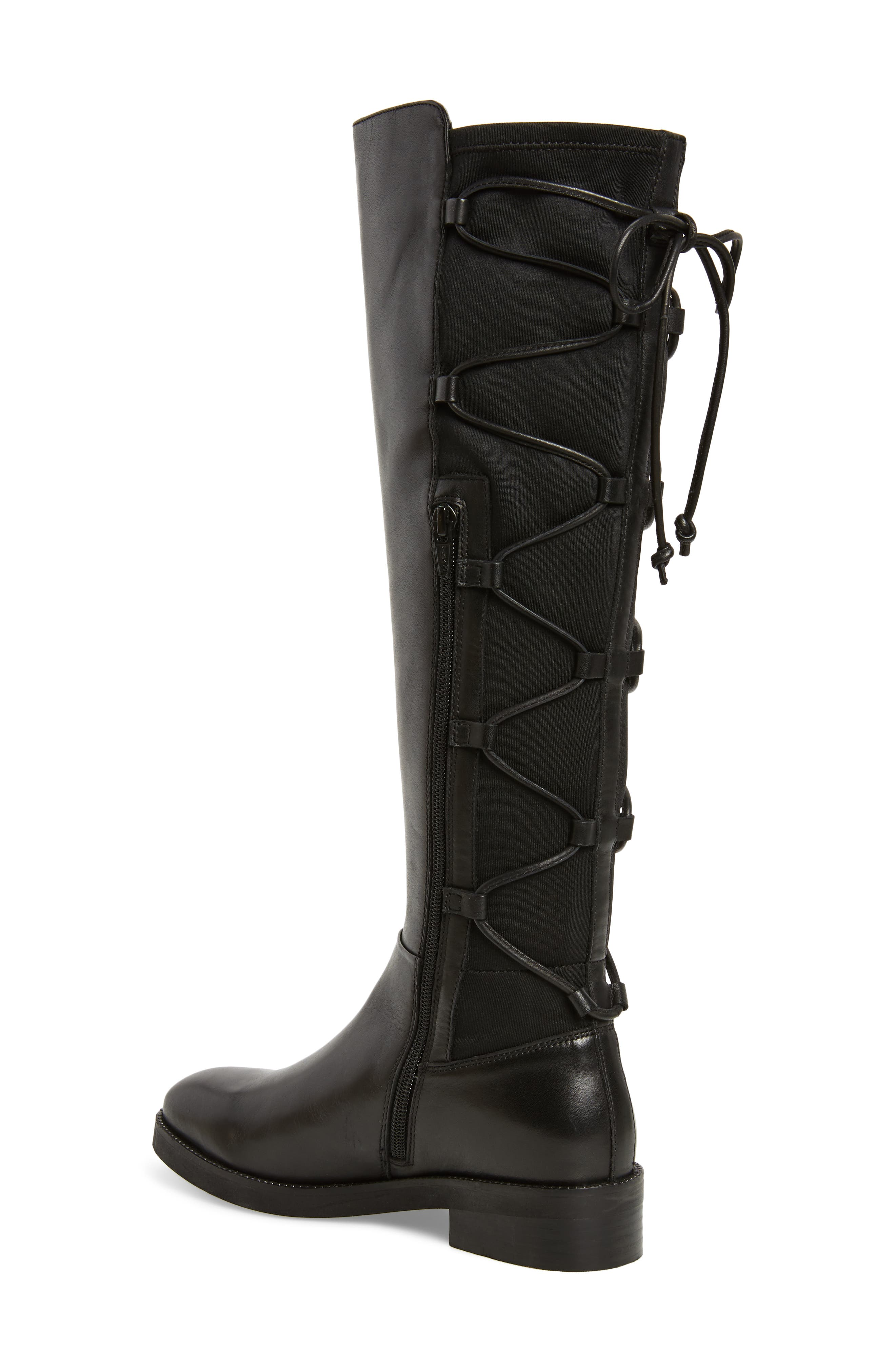 Dramatic Stretch Back Riding Boot,                             Alternate thumbnail 2, color,                             001