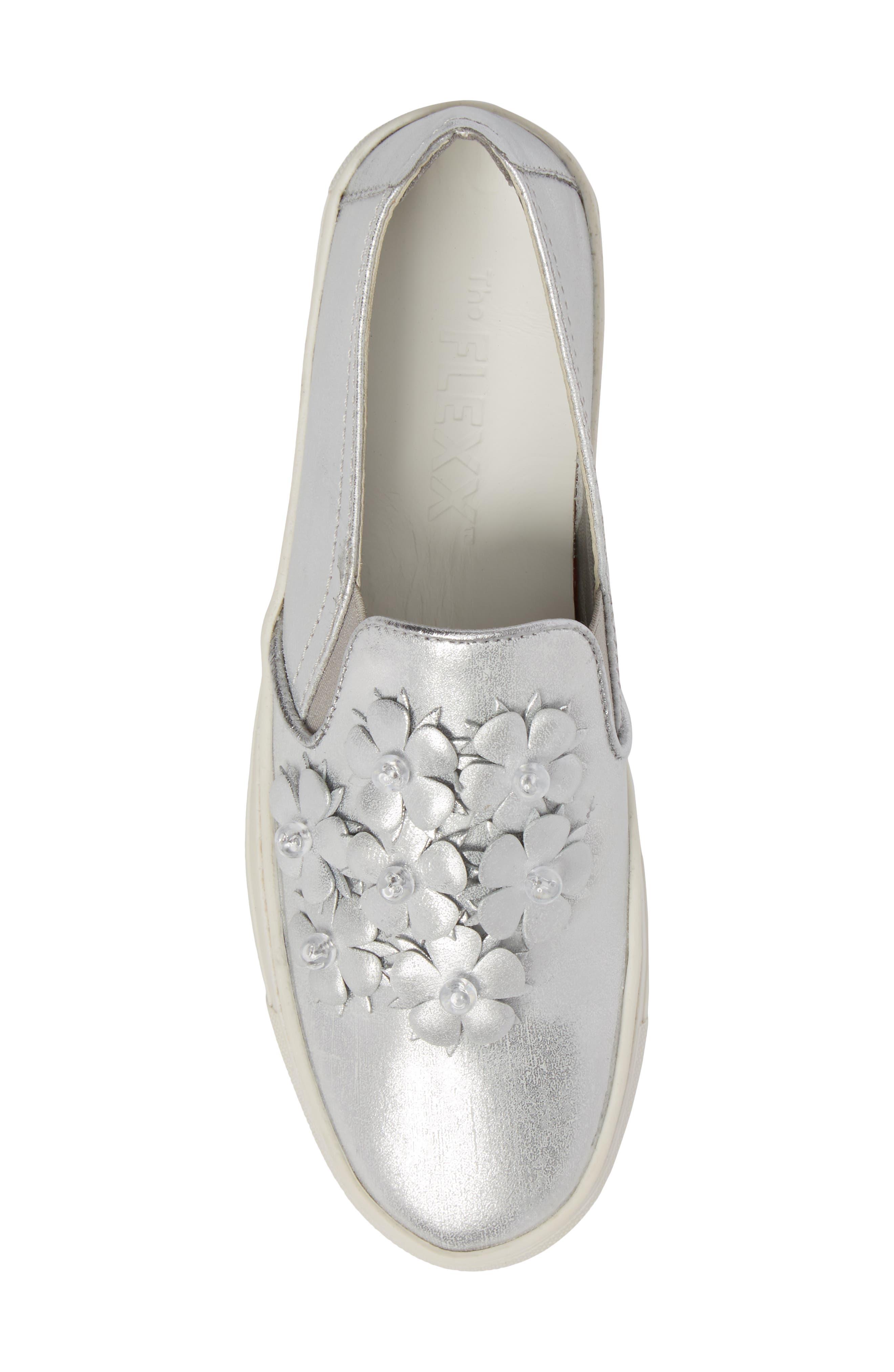 Sneak Blossom Slip-On Sneaker,                             Alternate thumbnail 5, color,                             020