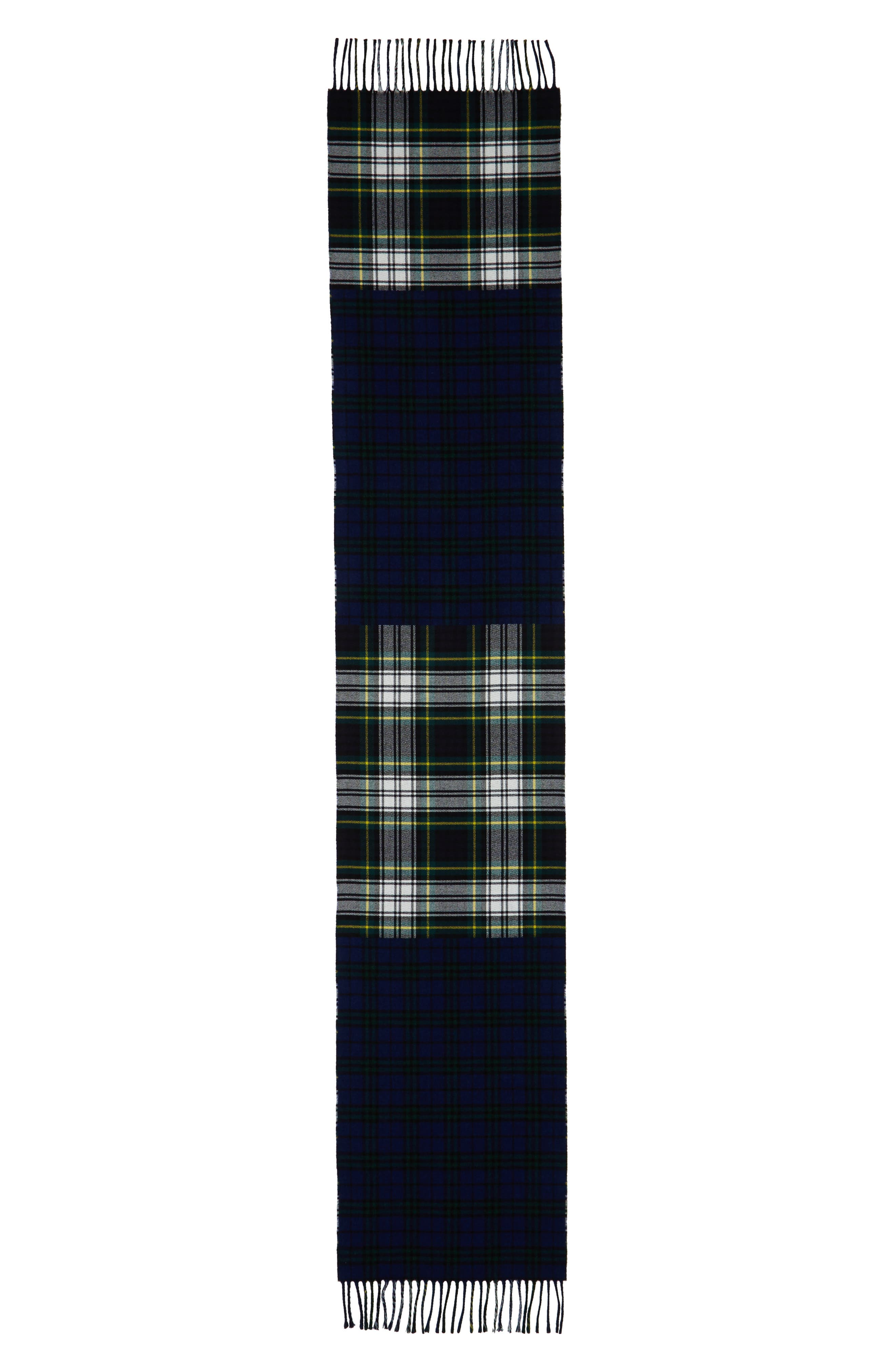 Check Wool Scarf,                             Alternate thumbnail 3, color,
