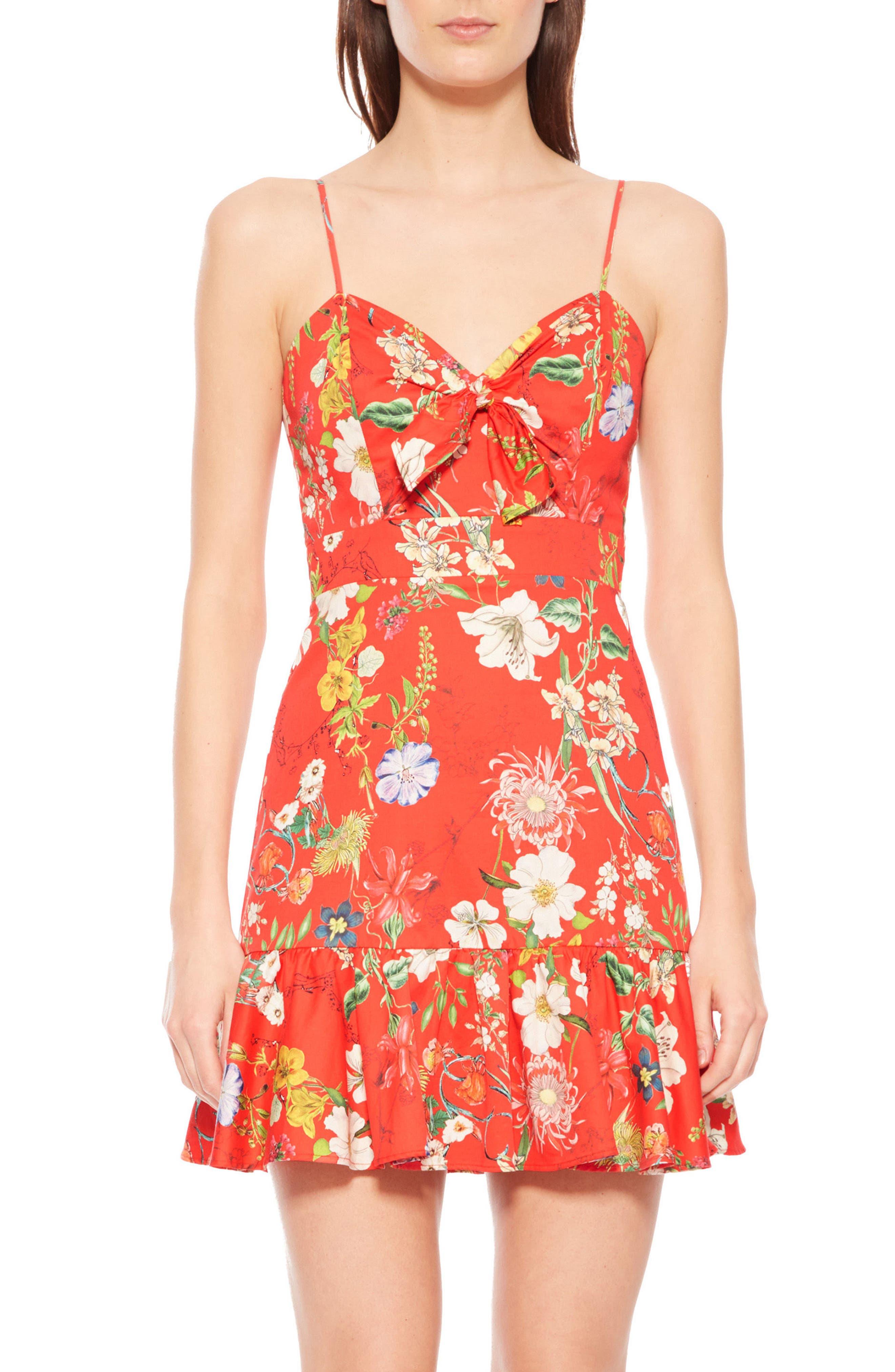 Dany Floral Dress,                             Main thumbnail 1, color,                             612