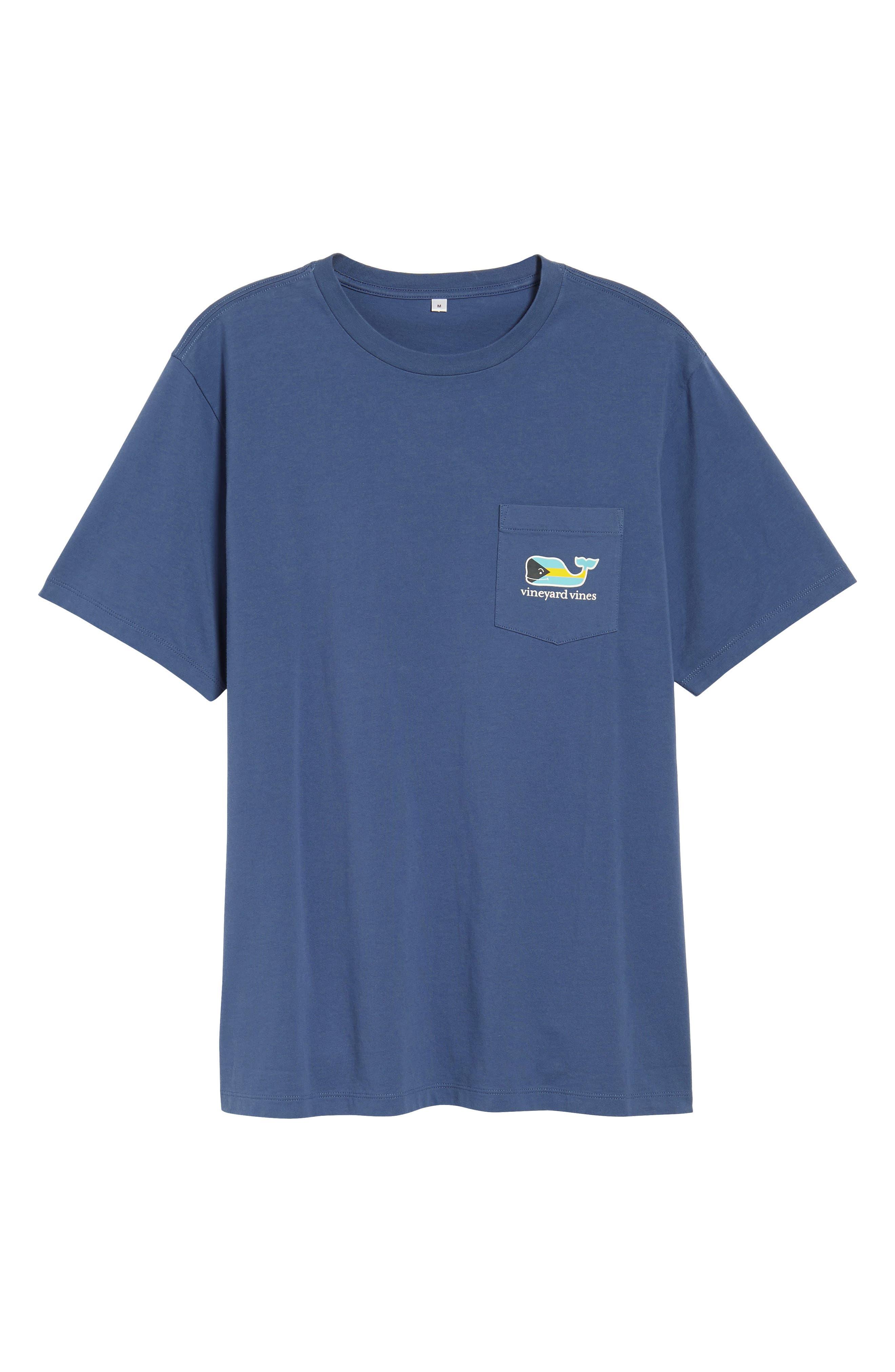 Bahamas Whale Crewneck Cotton T-Shirt,                             Alternate thumbnail 6, color,                             461