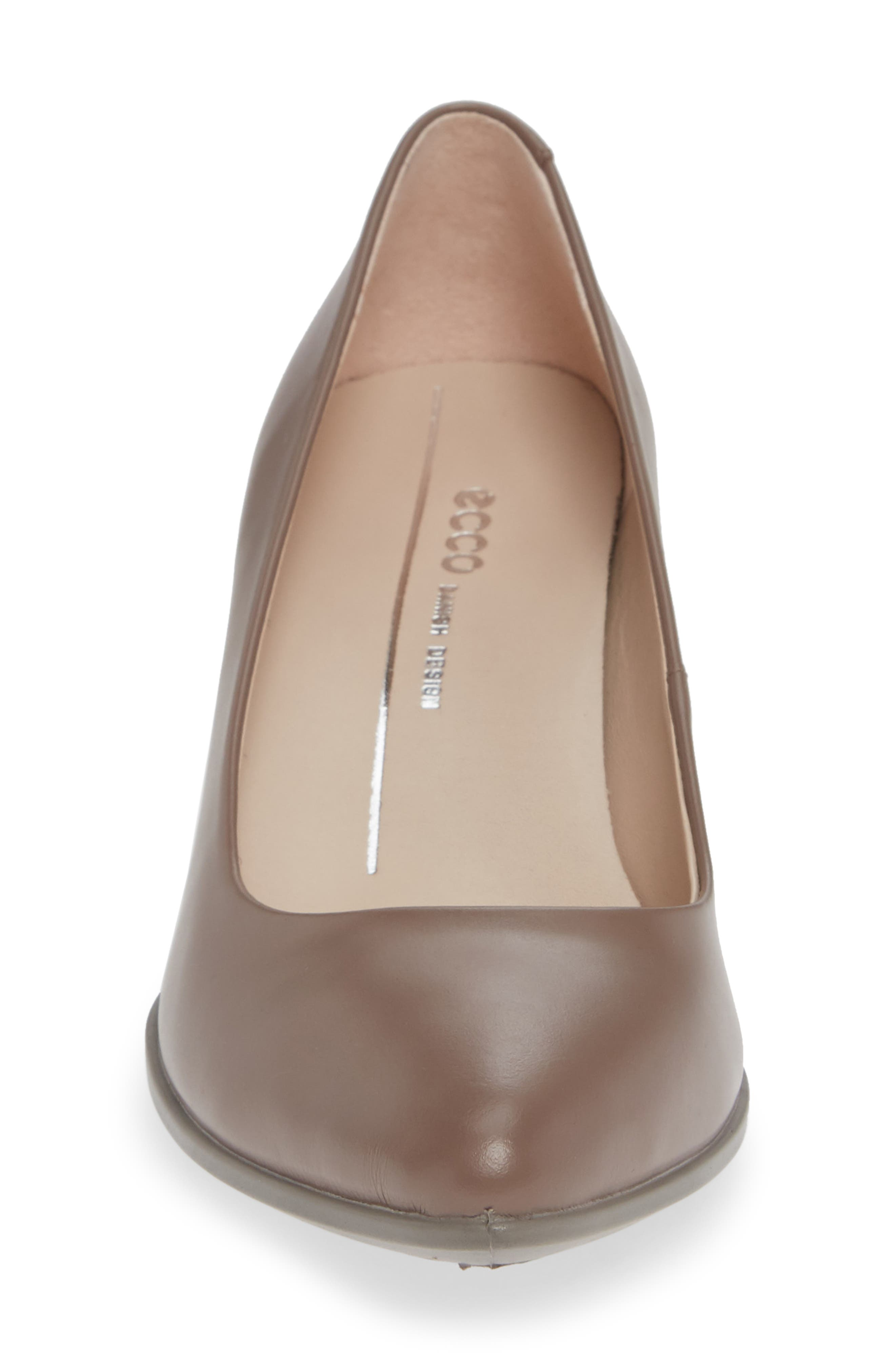 Shape 45 Pump,                             Alternate thumbnail 4, color,                             DEEP TAUPE LEATHER