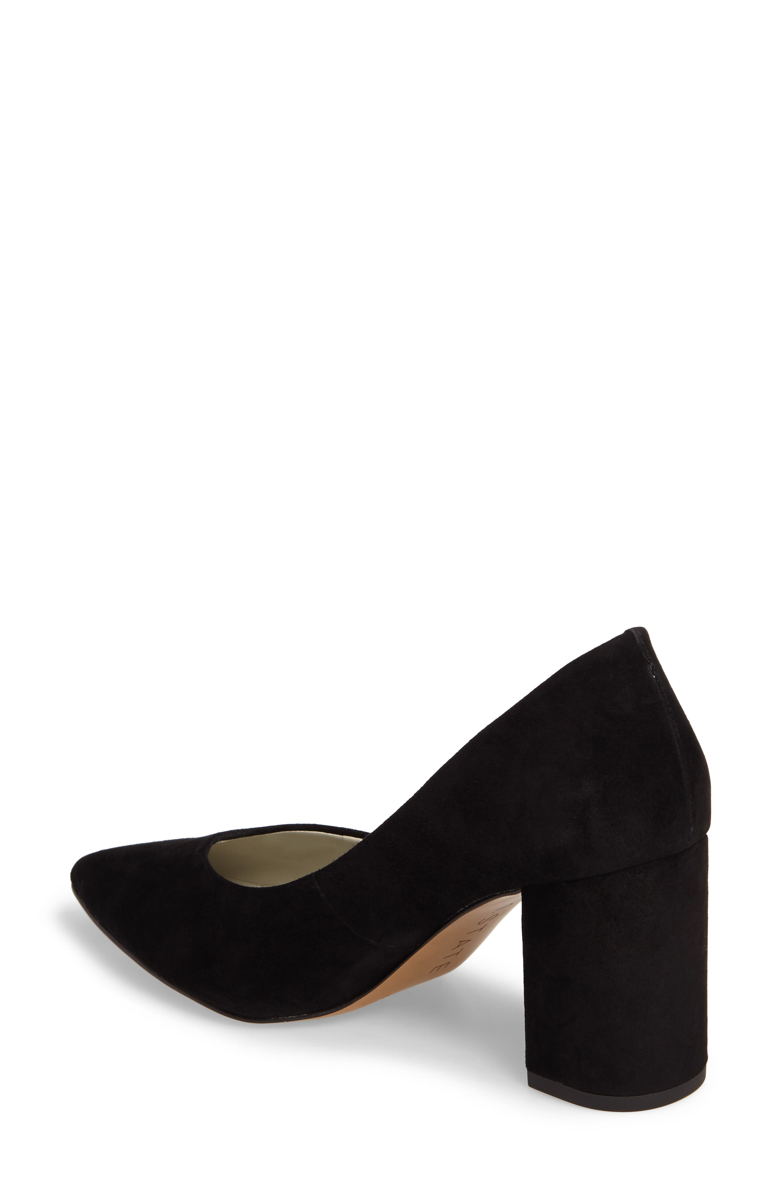 Saffy Block Heel Pump,                             Alternate thumbnail 2, color,                             001