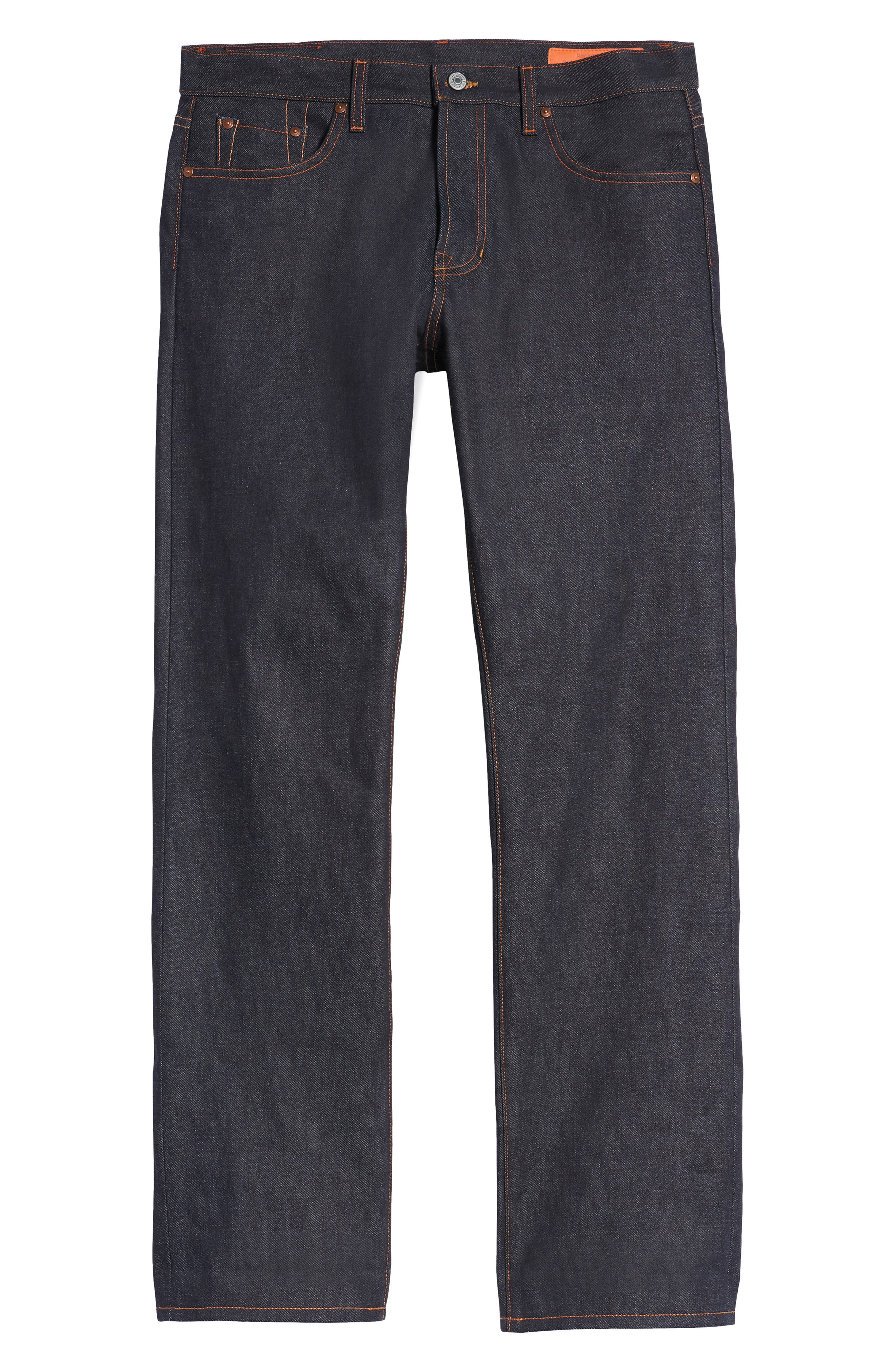 Rocker Straight Leg Jeans,                             Alternate thumbnail 6, color,                             RAW