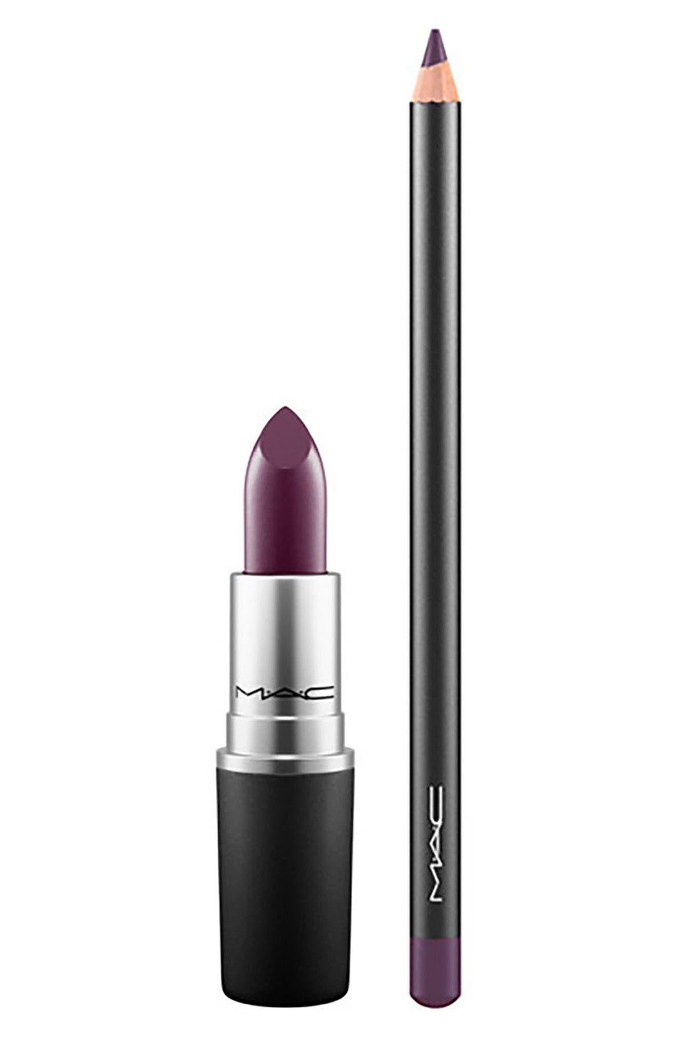 MAC COSMETICS MAC Instigator & Cyber World Lipstick & Lip Pencil Duo, Main, color, 000