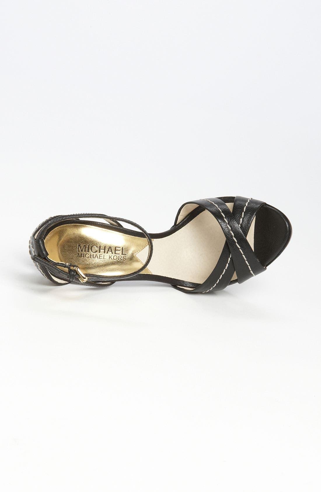 'Eleni' Platform Sandal,                             Alternate thumbnail 2, color,                             001
