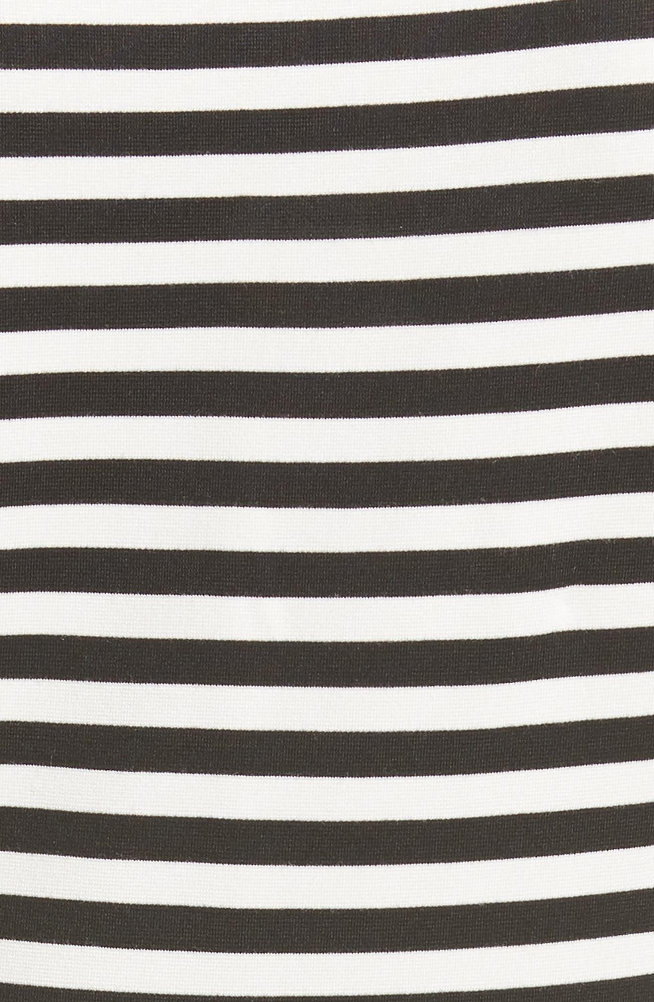 KATE SPADE NEW YORK,                             stripe ponte dress,                             Alternate thumbnail 5, color,                             900