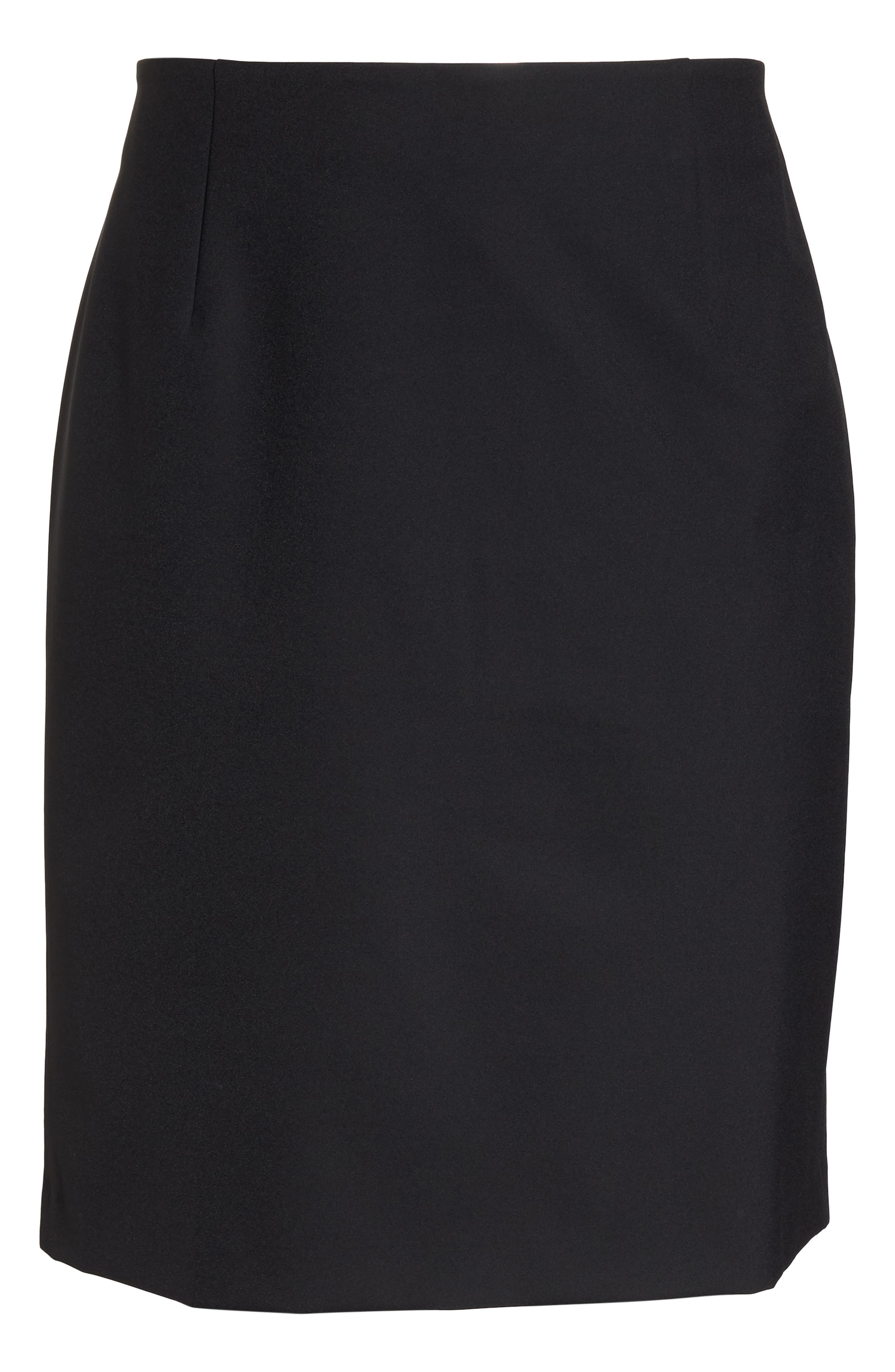 Pencil Skirt,                             Alternate thumbnail 12, color,                             BLACK