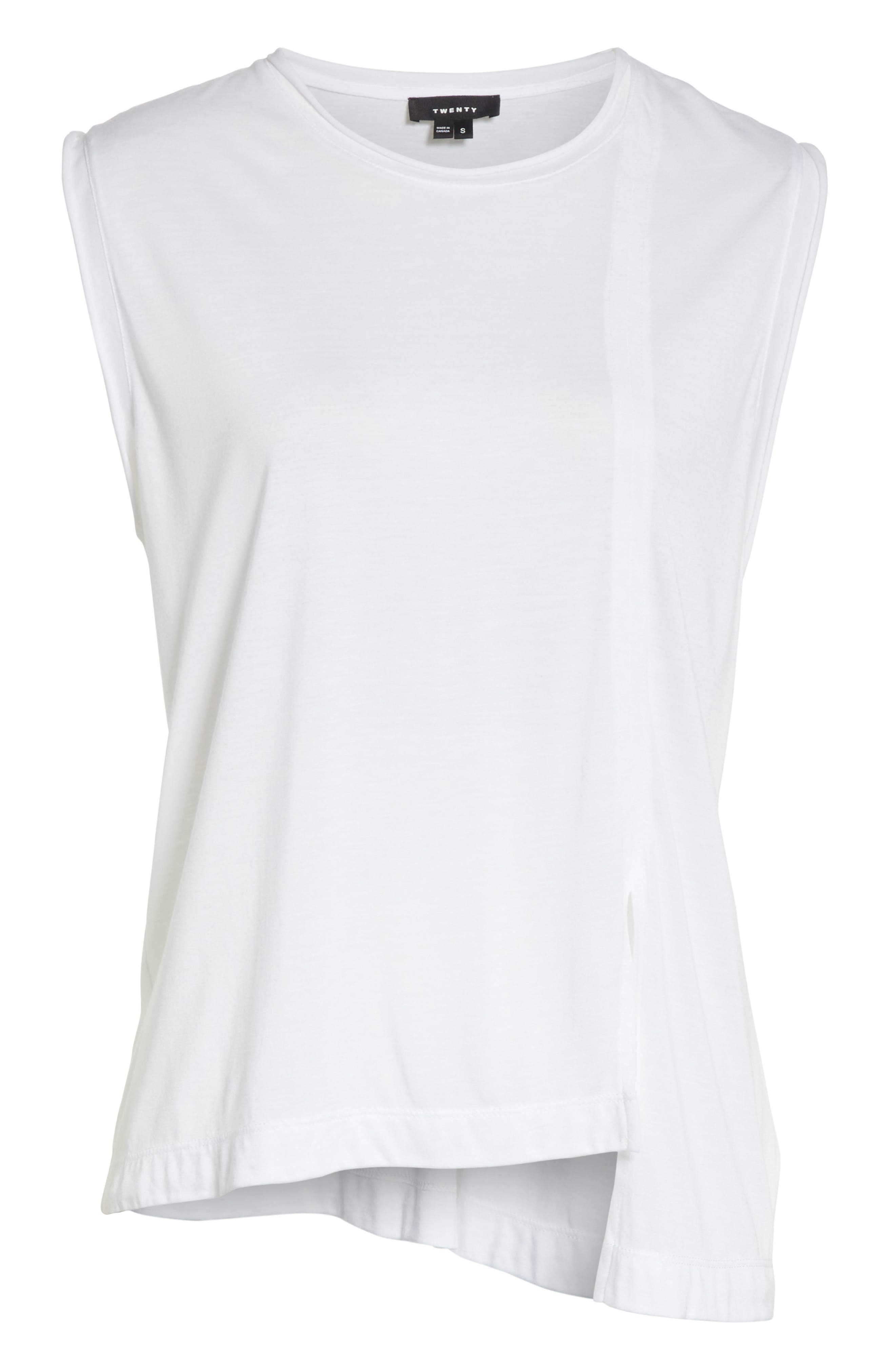 Perfect Muscle Tee,                             Alternate thumbnail 6, color,                             100