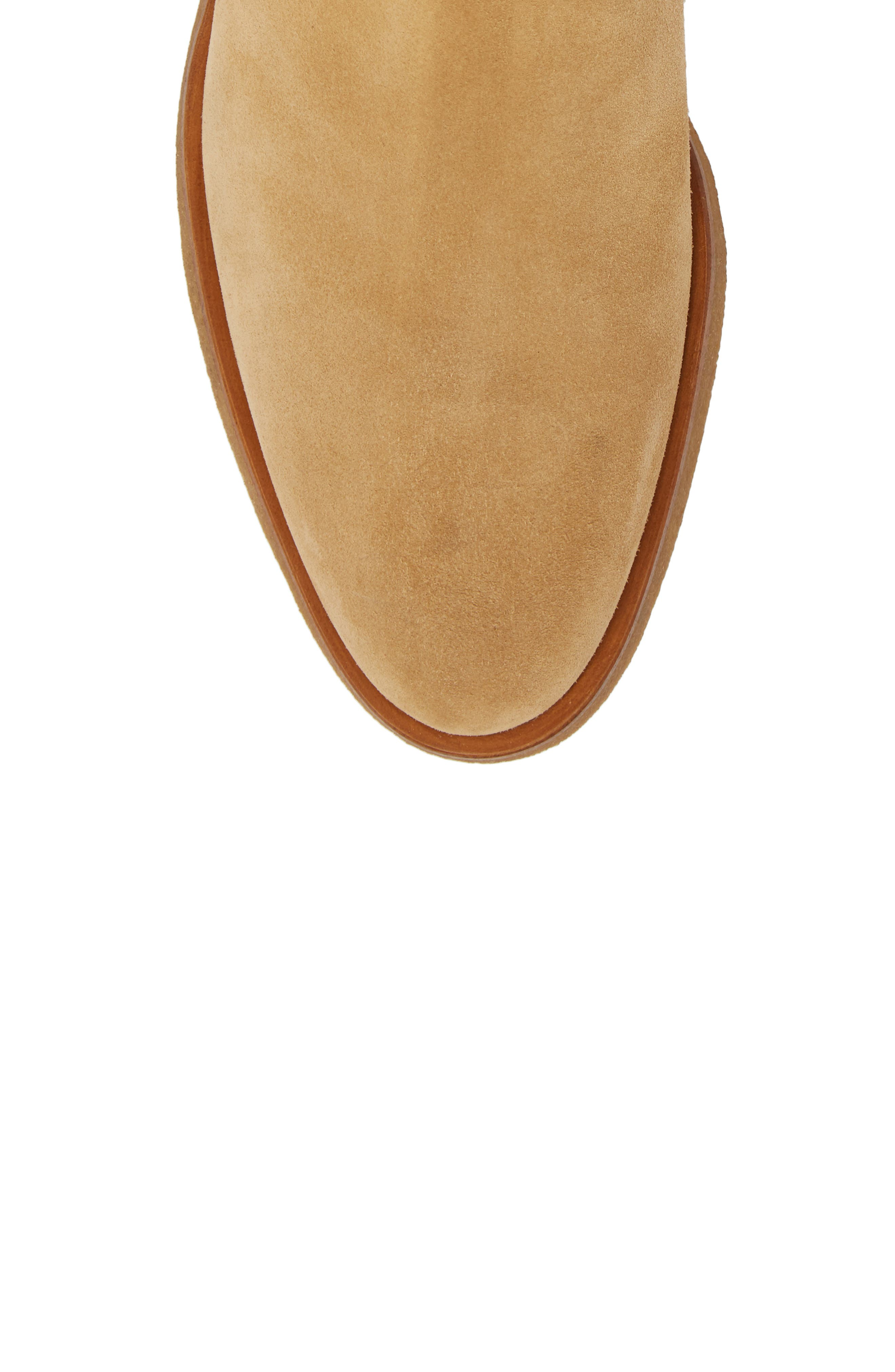 Chelsea Boot,                             Alternate thumbnail 5, color,                             AMBER SUEDE
