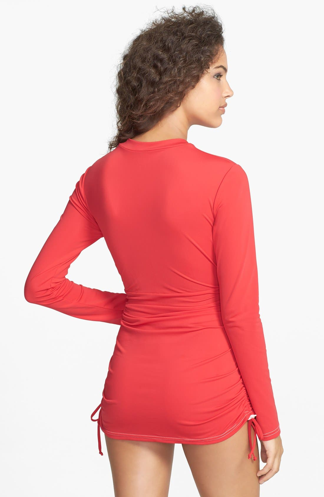'Sonja' Long Sleeve Half Zip Convertible Swimdress,                             Alternate thumbnail 30, color,