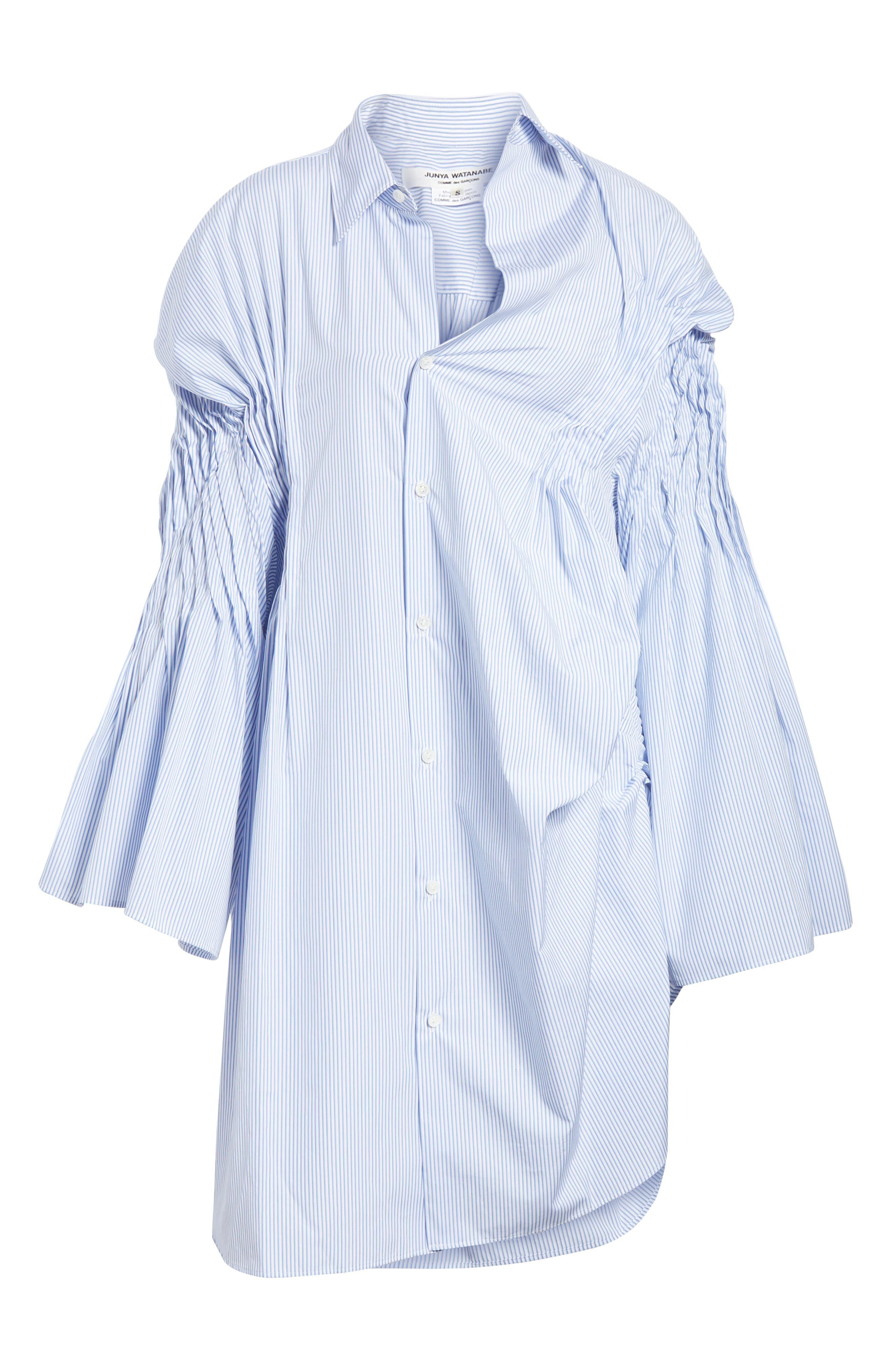 Asymmetrical Cotton Shirtdress,                             Alternate thumbnail 6, color,                             400