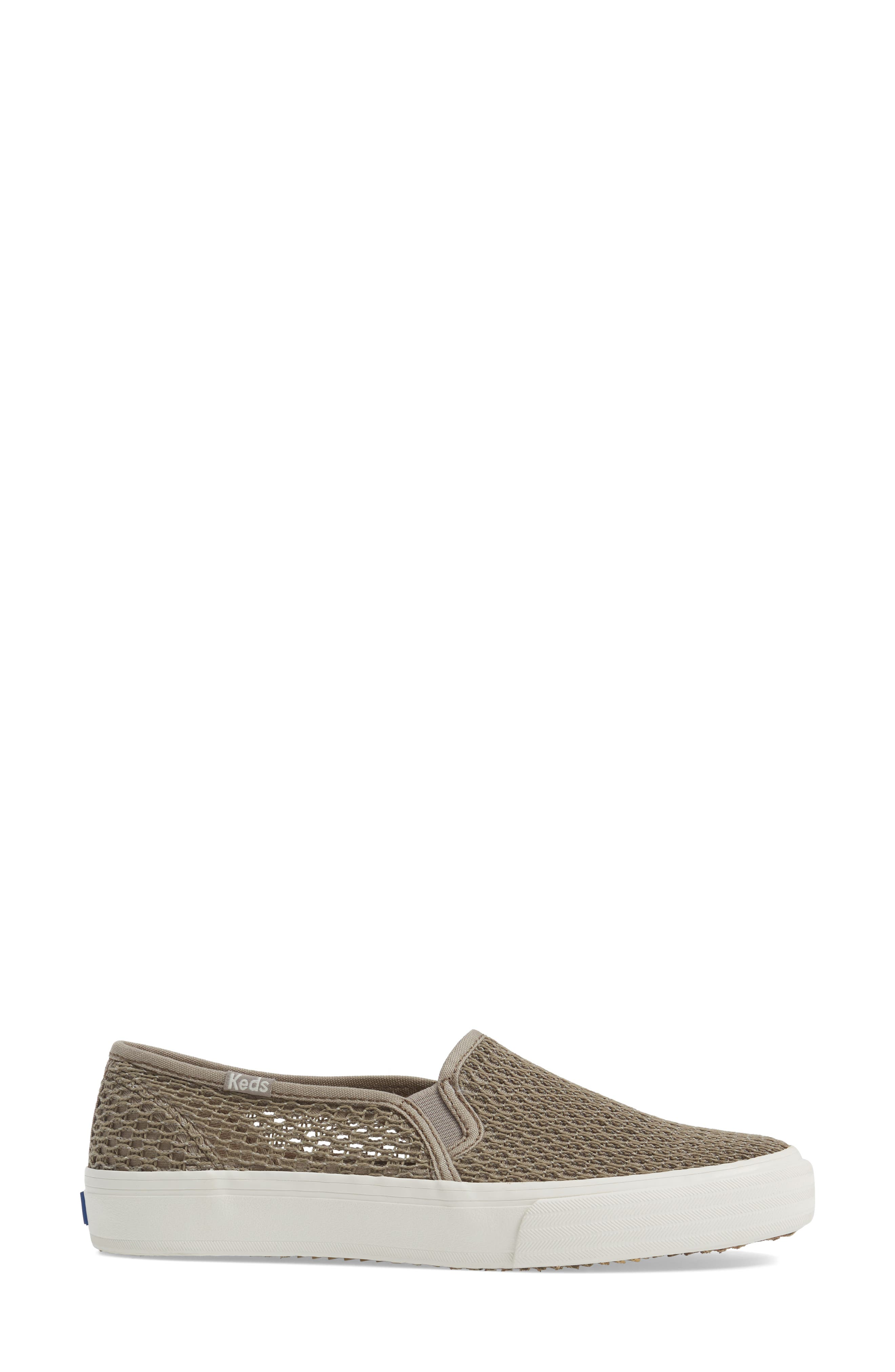 Double Decker Crochet Slip-On Sneaker,                             Alternate thumbnail 3, color,                             250