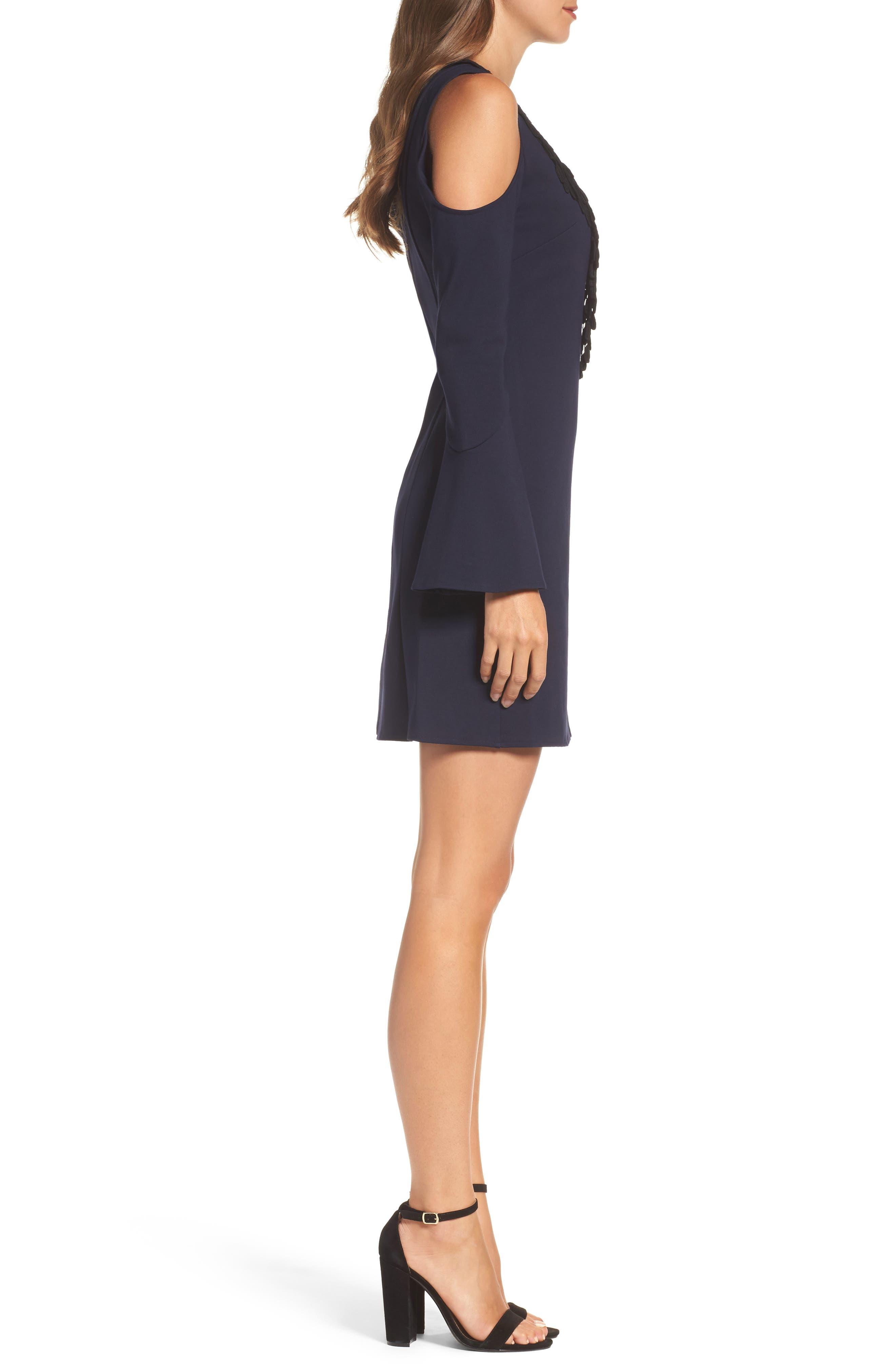 Brie Double Knit Shift Dress,                             Alternate thumbnail 6, color,