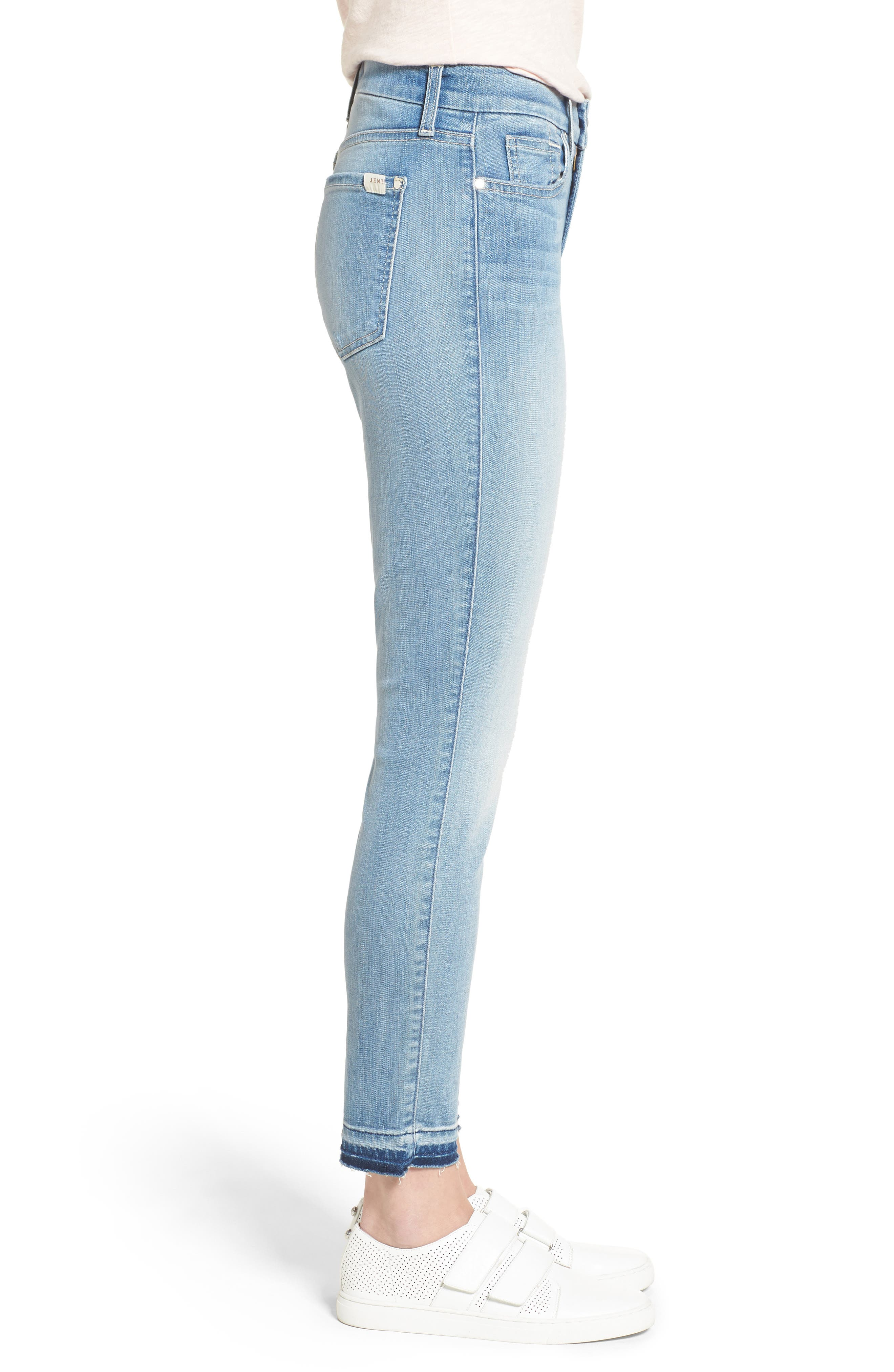 Release Hem Stretch Ankle Skinny Jeans,                             Alternate thumbnail 8, color,