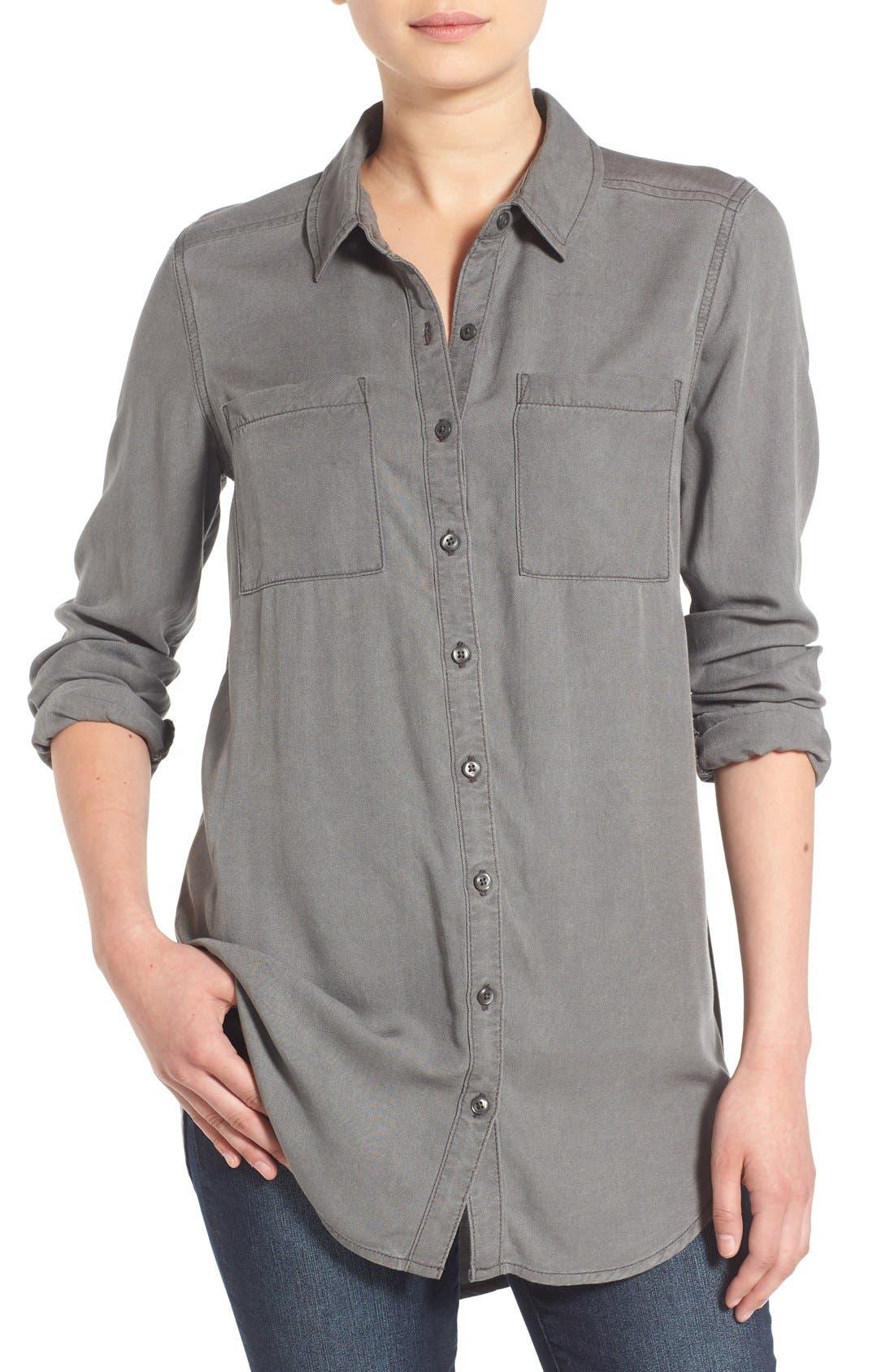 Woven Twill Tunic,                         Main,                         color, 021