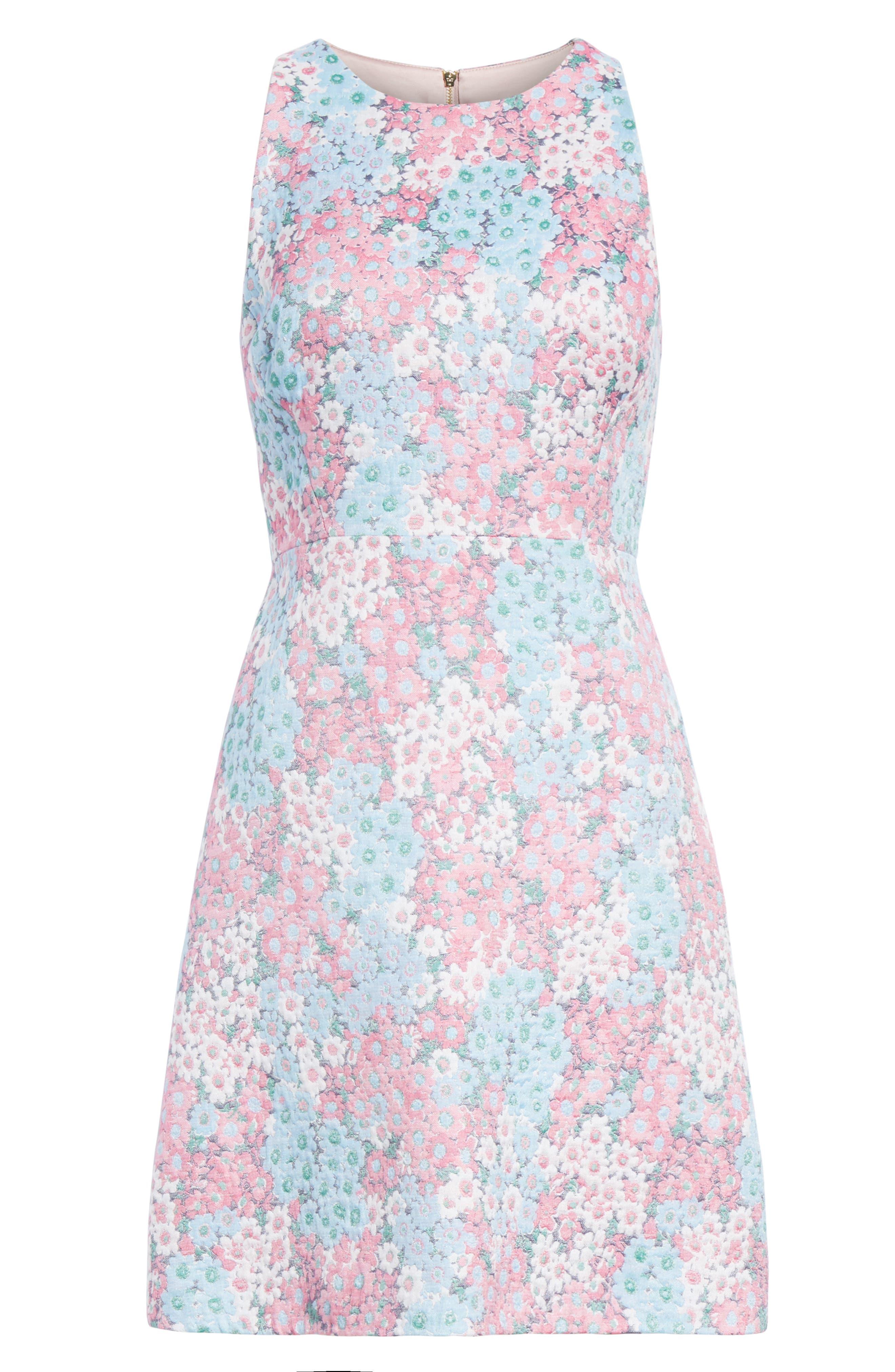 jacquard a-line dress,                             Alternate thumbnail 6, color,                             474