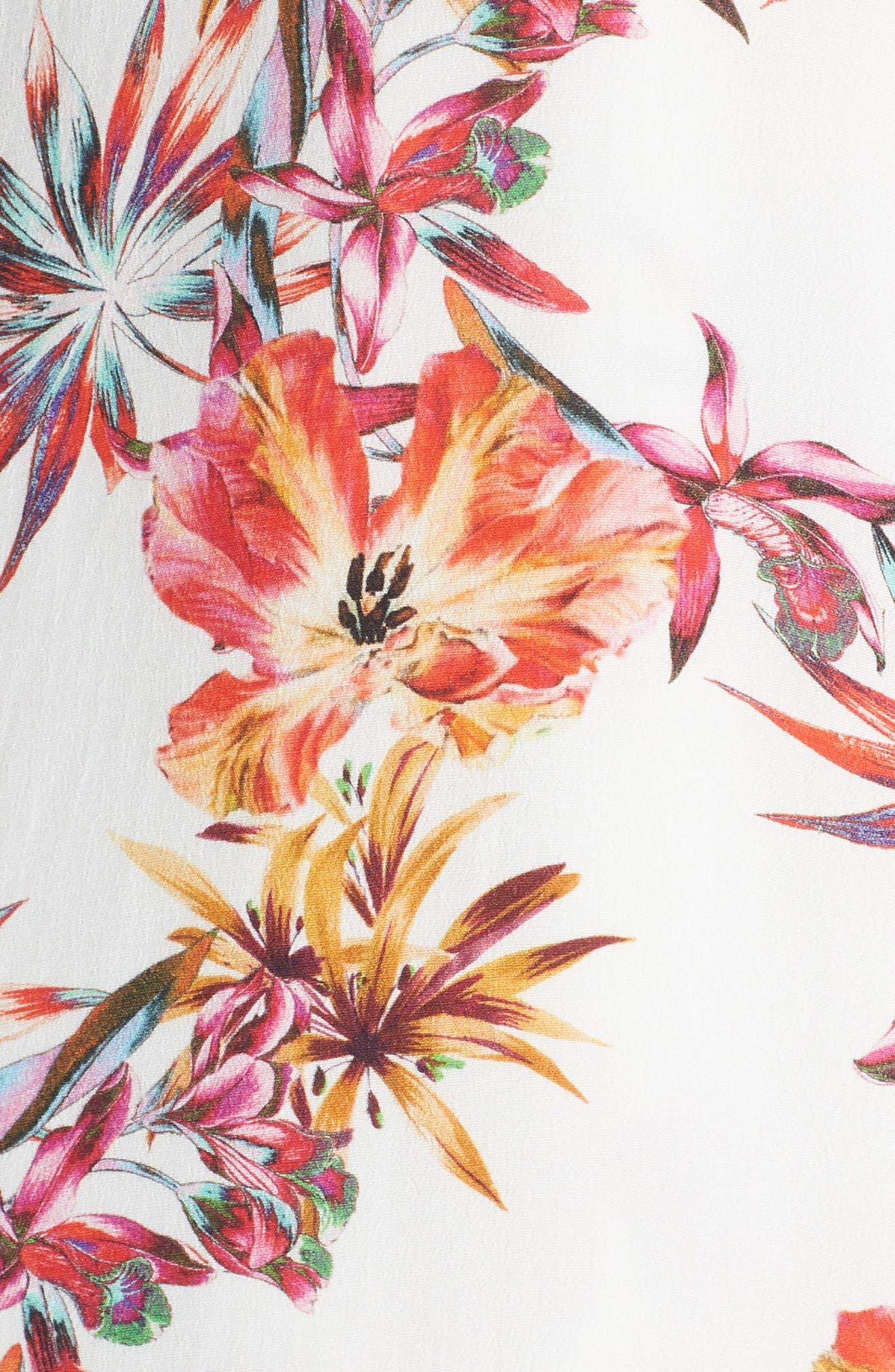 Eloise High/Low Wrap Dress,                             Alternate thumbnail 5, color,                             650