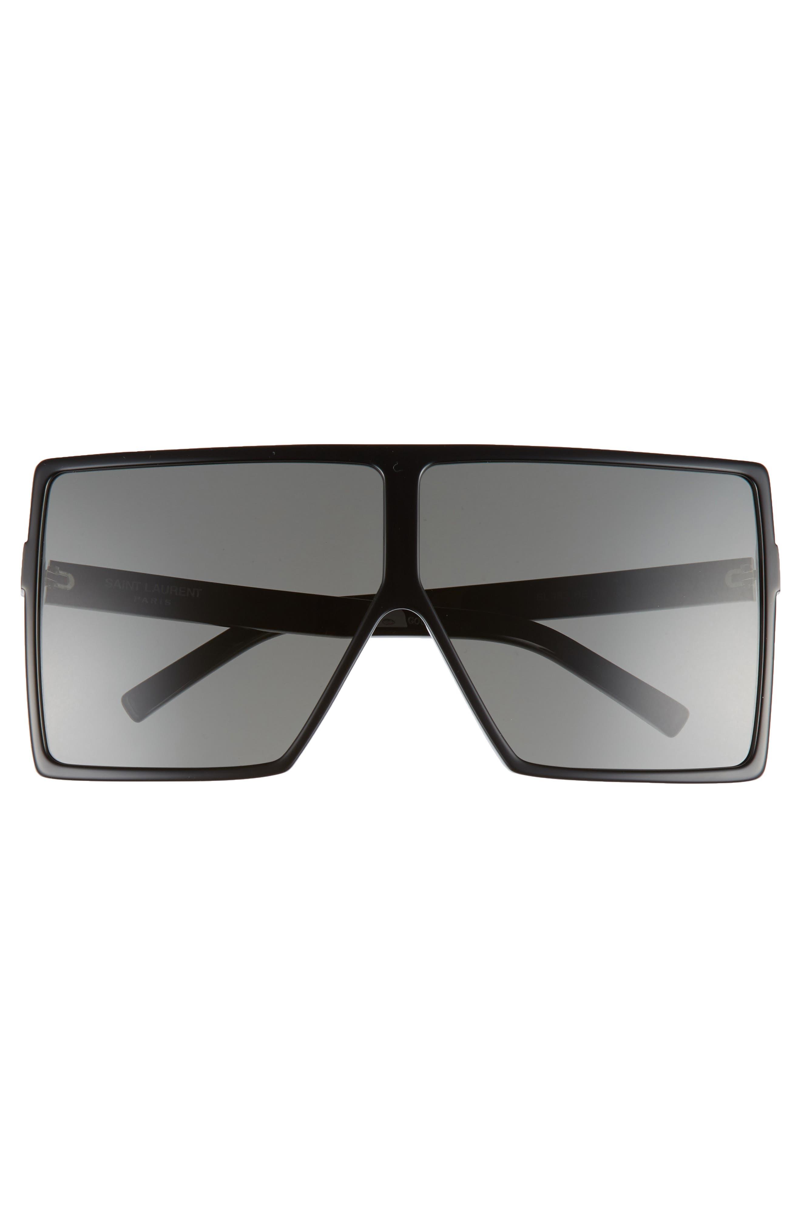 68mm Oversize Square Sunglasses,                             Alternate thumbnail 3, color,                             004