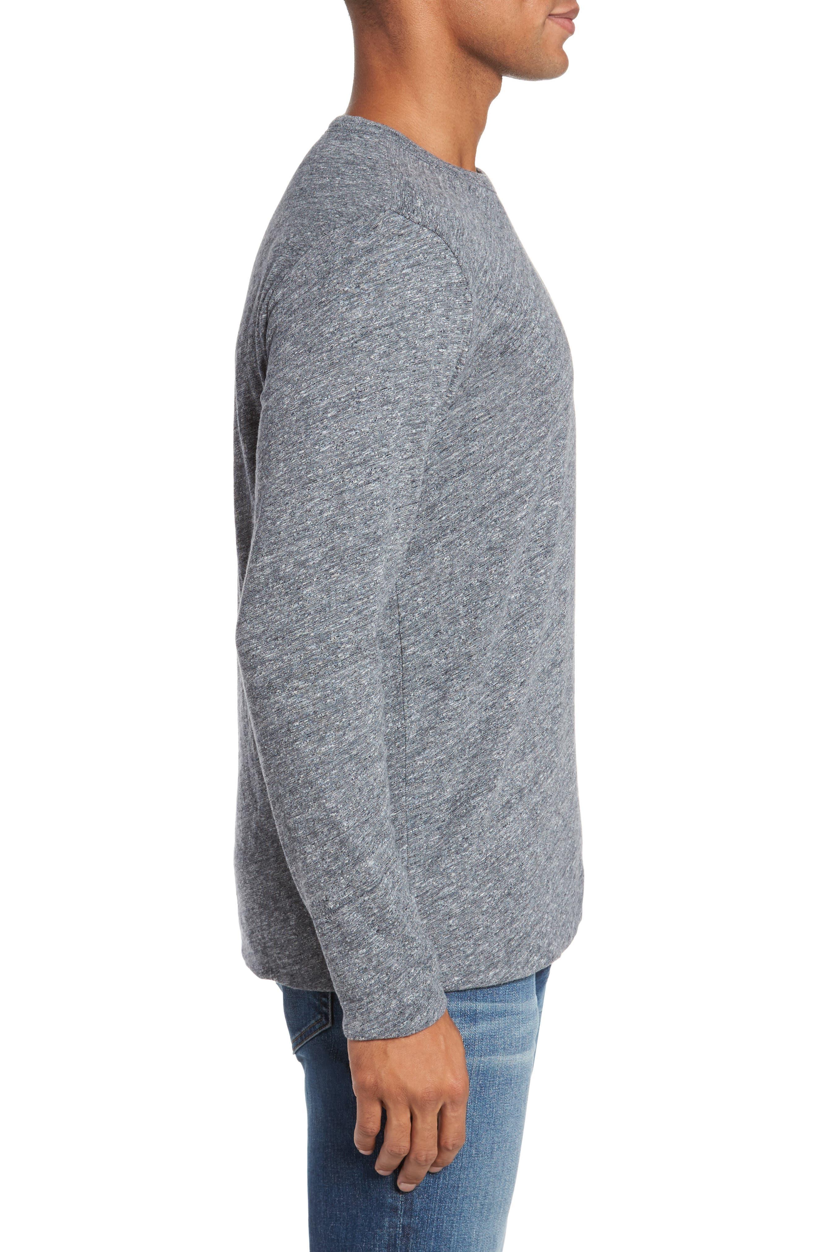 Reversible Long Sleeve Crewneck T-Shirt,                             Alternate thumbnail 3, color,                             038
