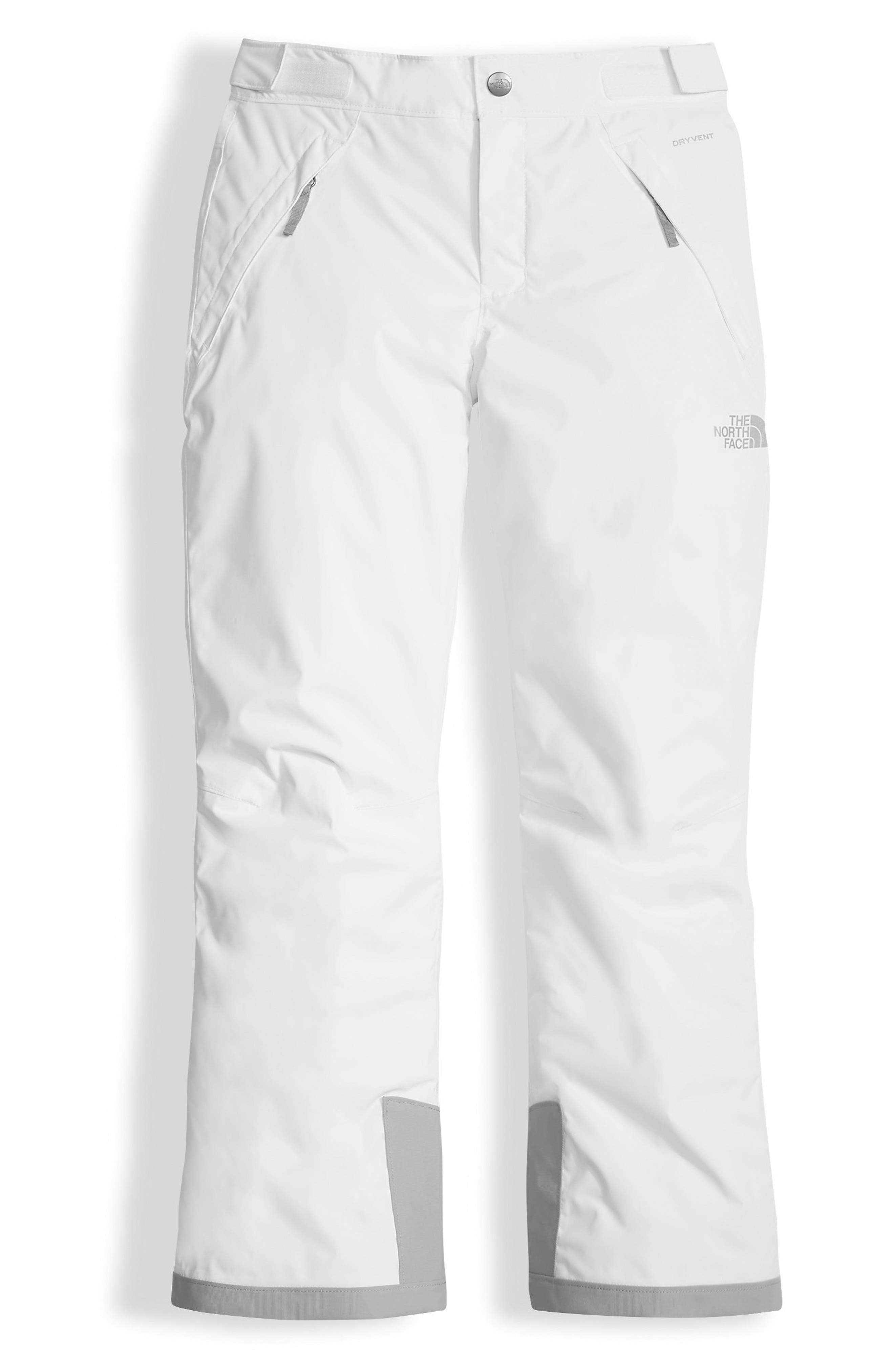 Girls The North Face Freedom Waterproof Heatseeker(TM) Insulated Snow Pants Size M (1012)  White