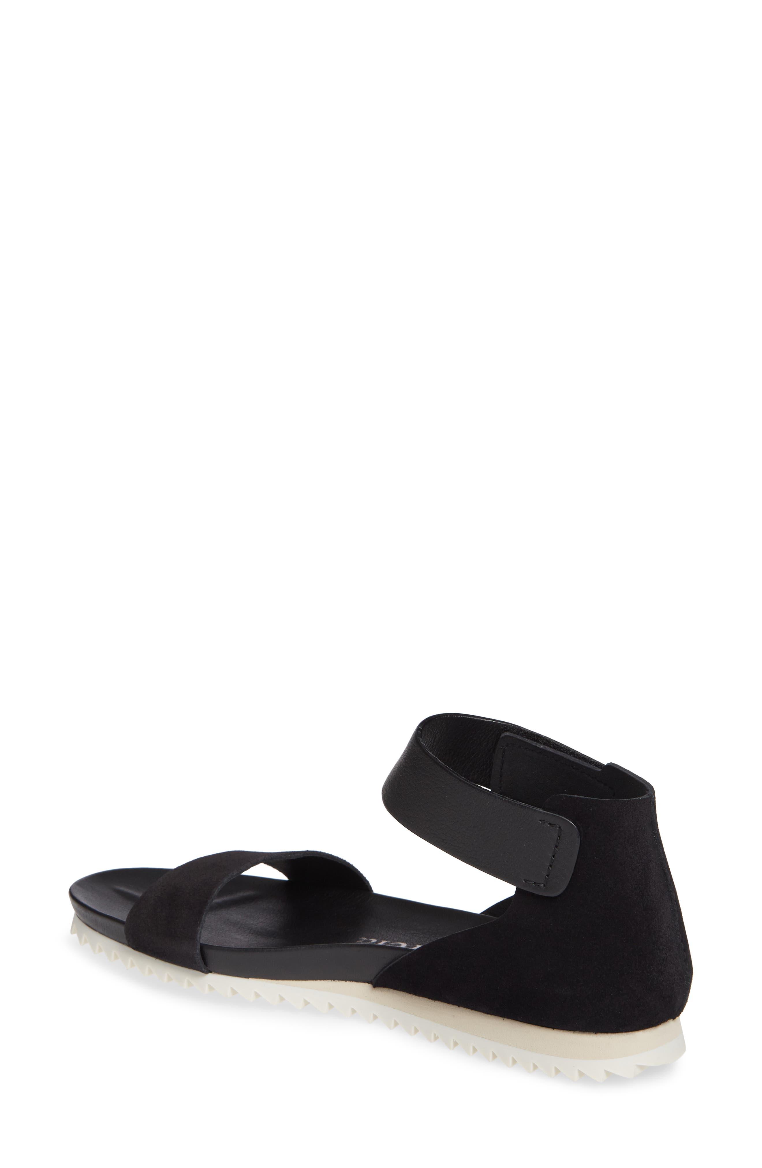 Jenile Ankle Cuff Sandal,                             Alternate thumbnail 2, color,                             BLACK CASTORO
